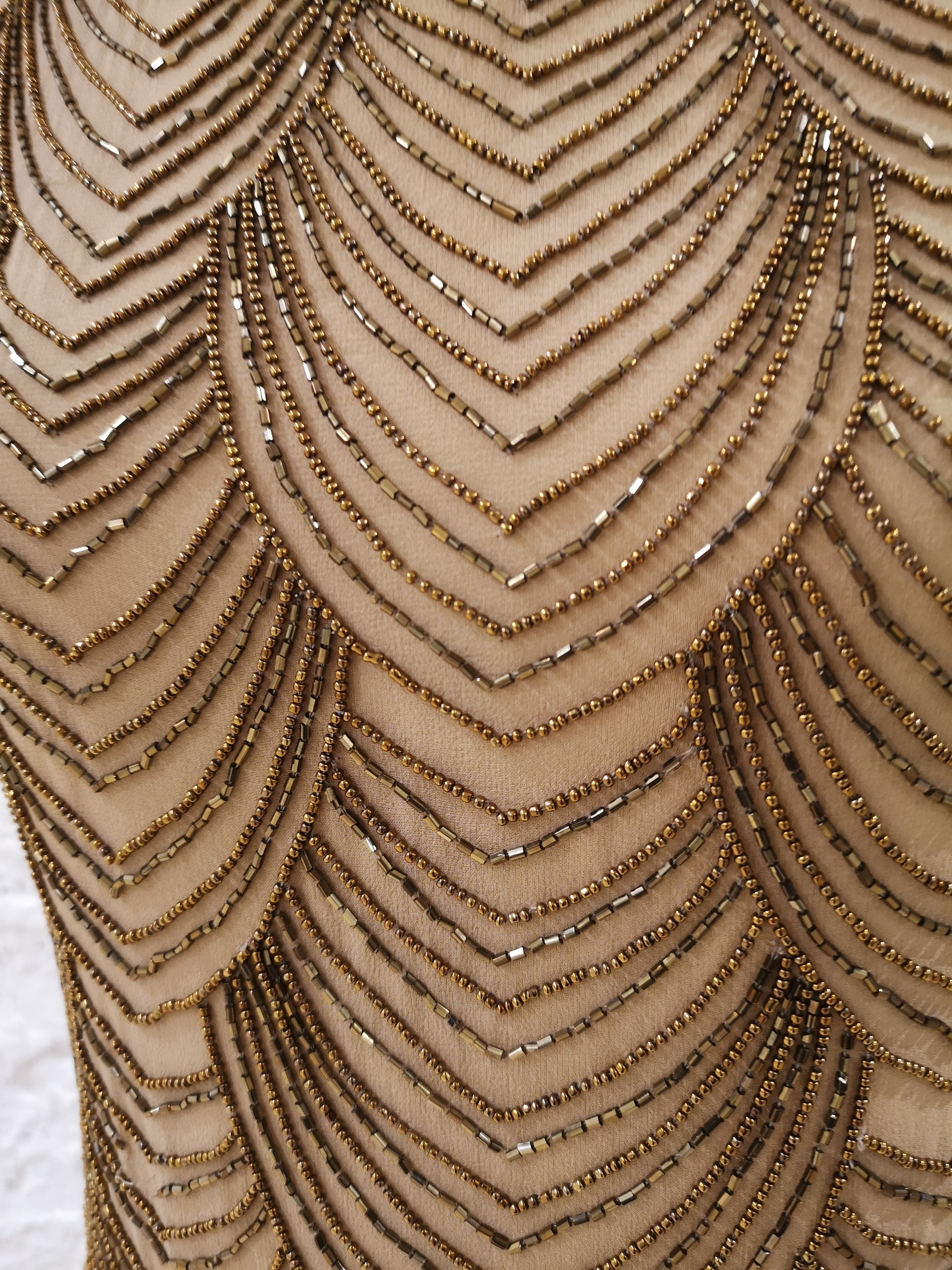 Nude silk tone with beads Dress VIntage   Abito   EC019100XSÈPalice olivia