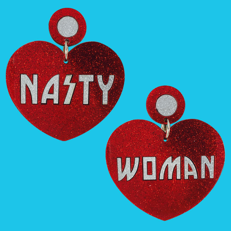 Doodad Fandango   Earrings   HEART NASTY WOMEN-