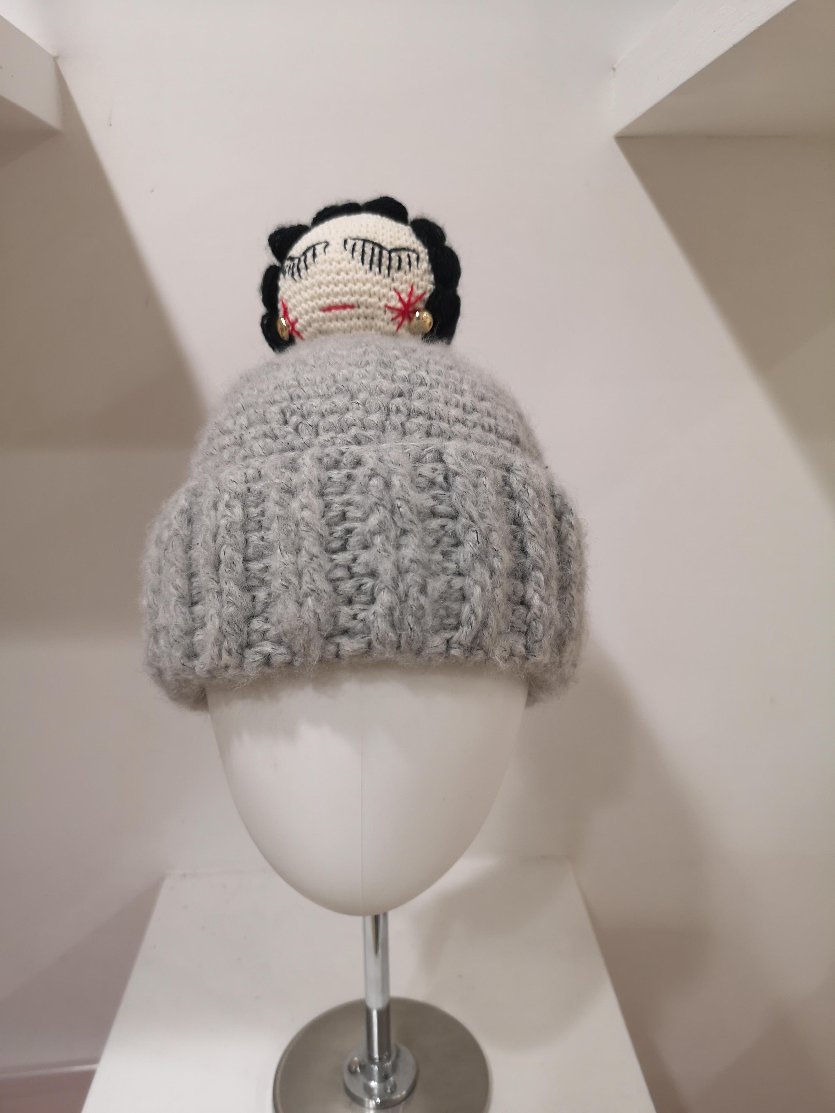 Grey wool Coco doll hat House of Muamua | Cappello | KNITGRIGIO