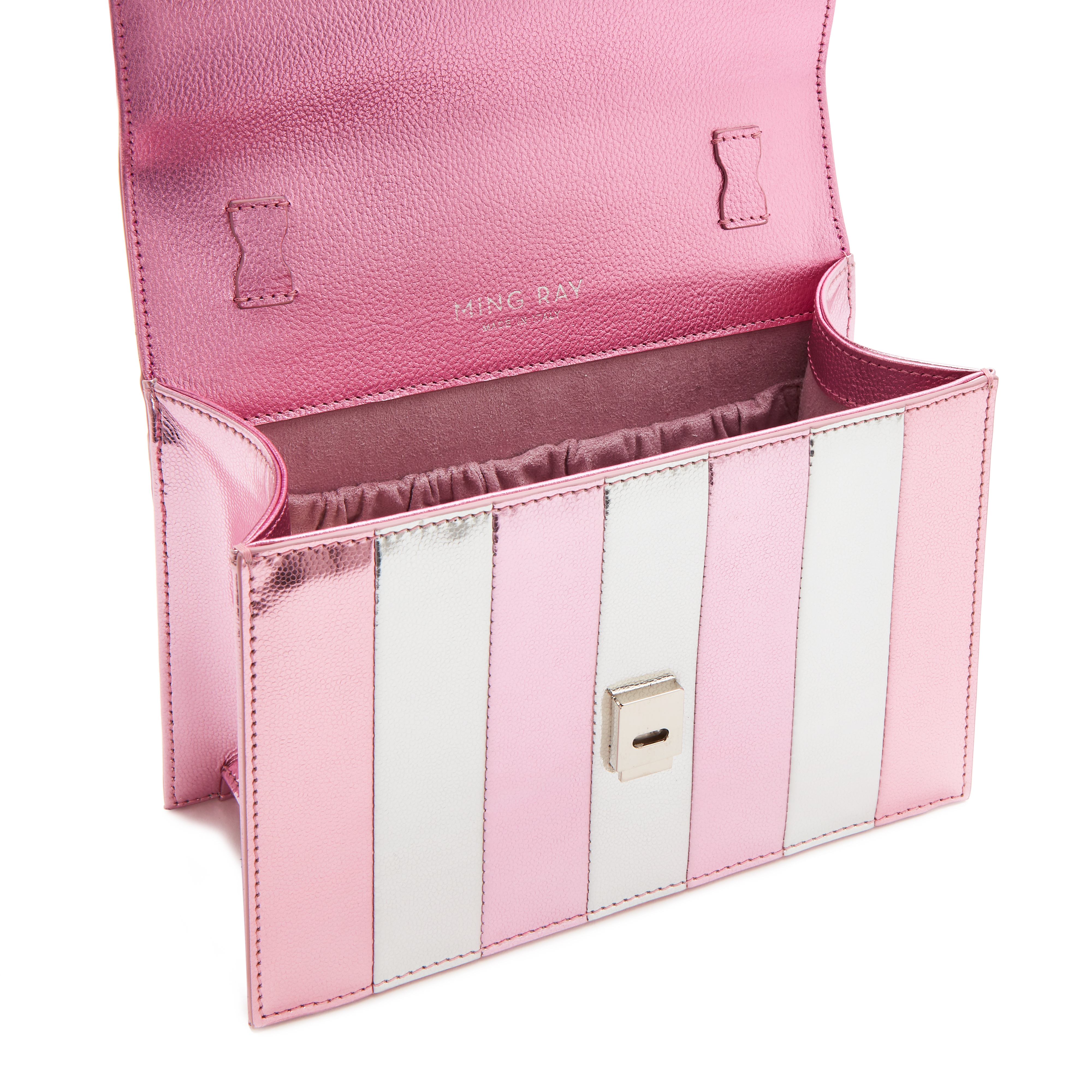 Joy pink silver leather rainbow handle bag Ming Ray | Bags | JOYPINK SILVER