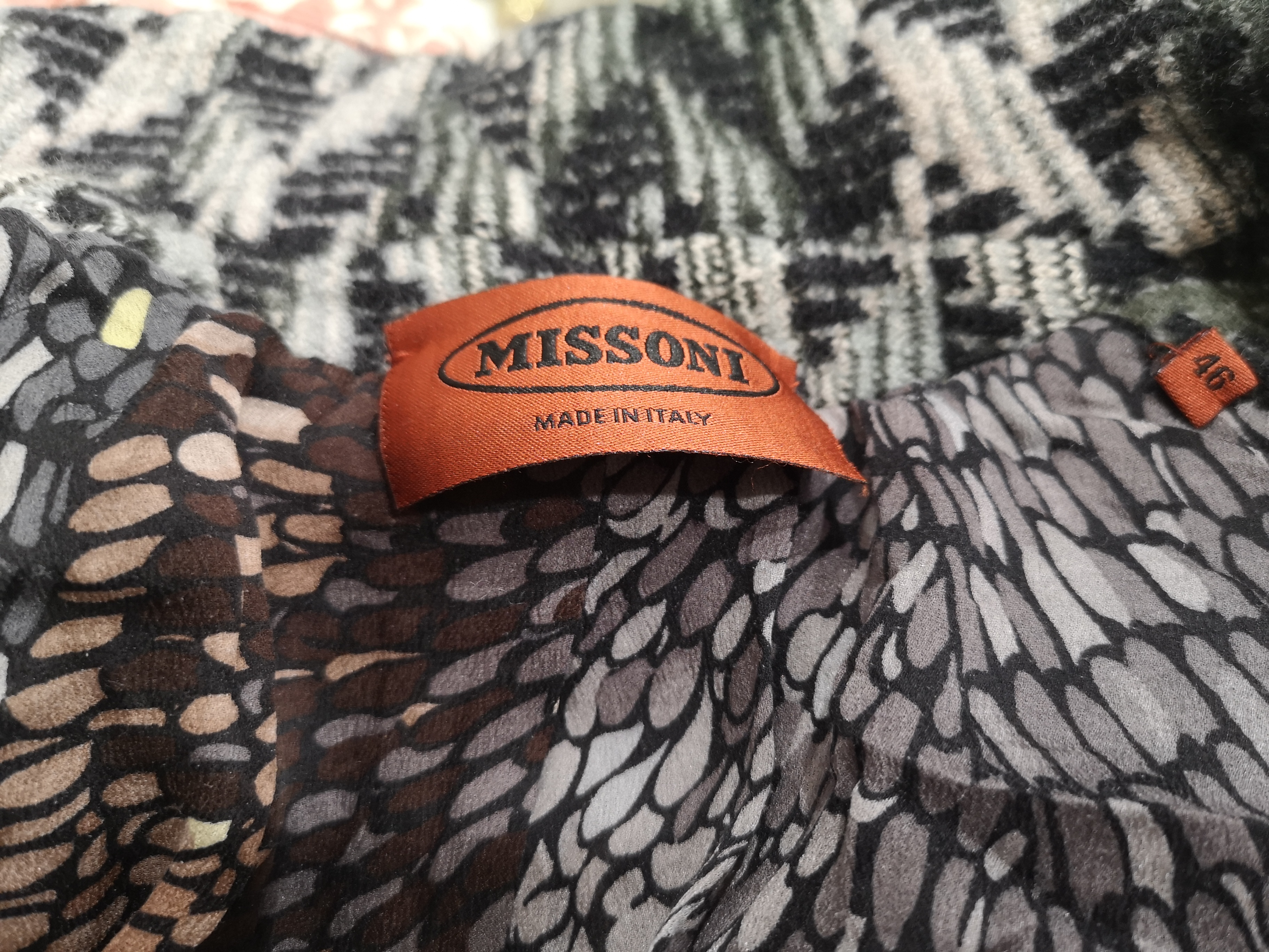 Missoni grey multicoloured wool jacket Missoni | Jackets | VXR0194E0XCSGLANA