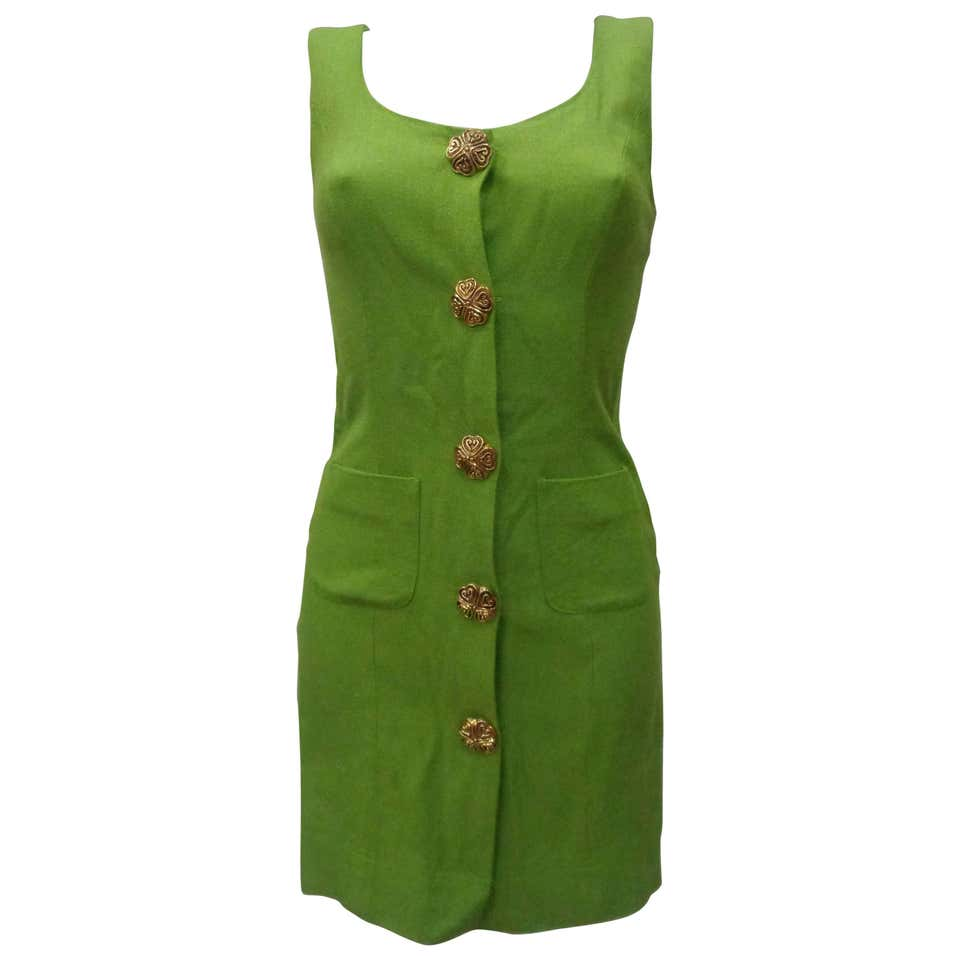 Moschino Green gold tone hardware Dress Moschino | Dresses | LE019100XSZVERDE