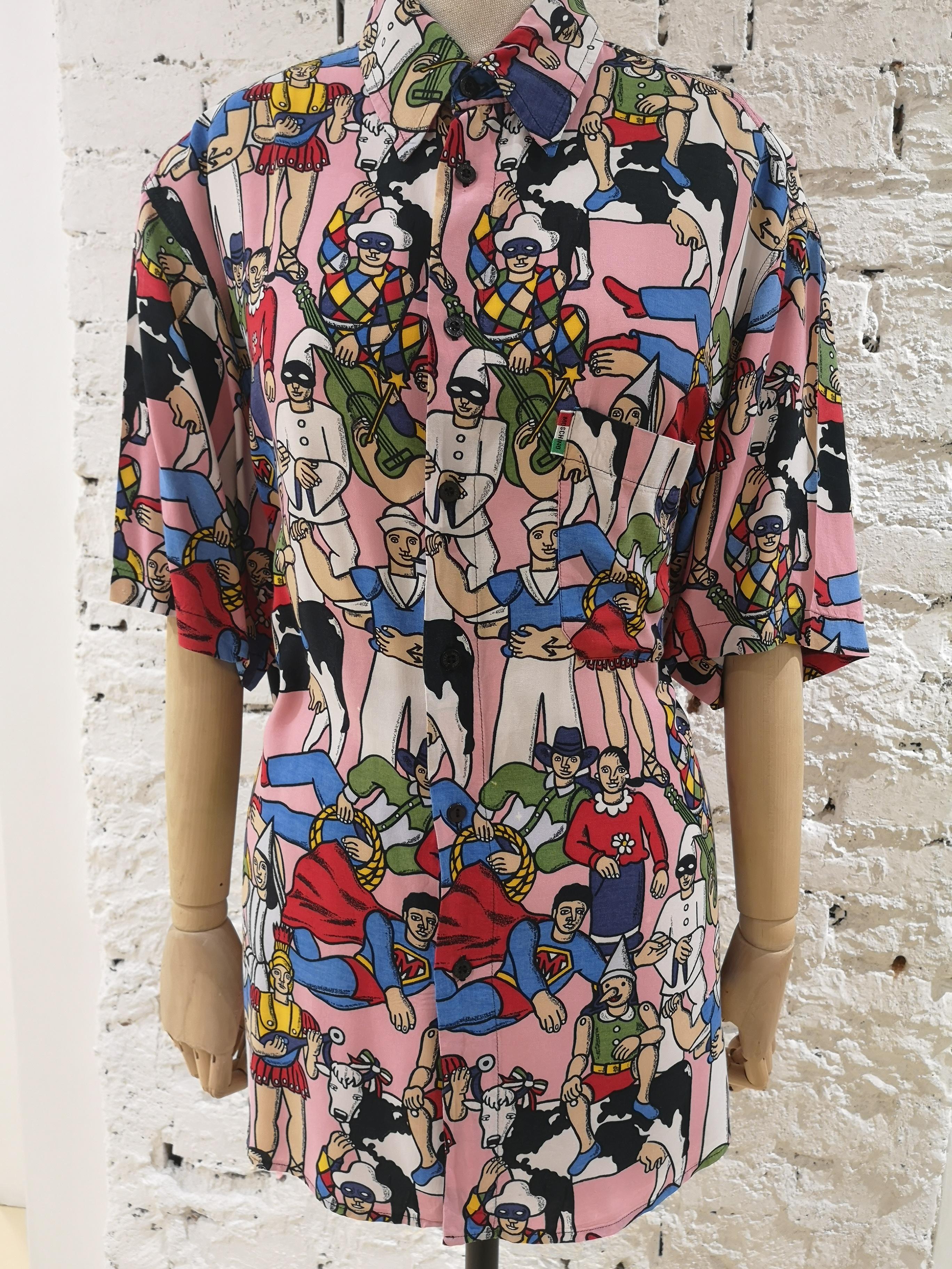 Moschino Pink characters shirt Moschino | Camicia | SD019450XSROSA MUCCA