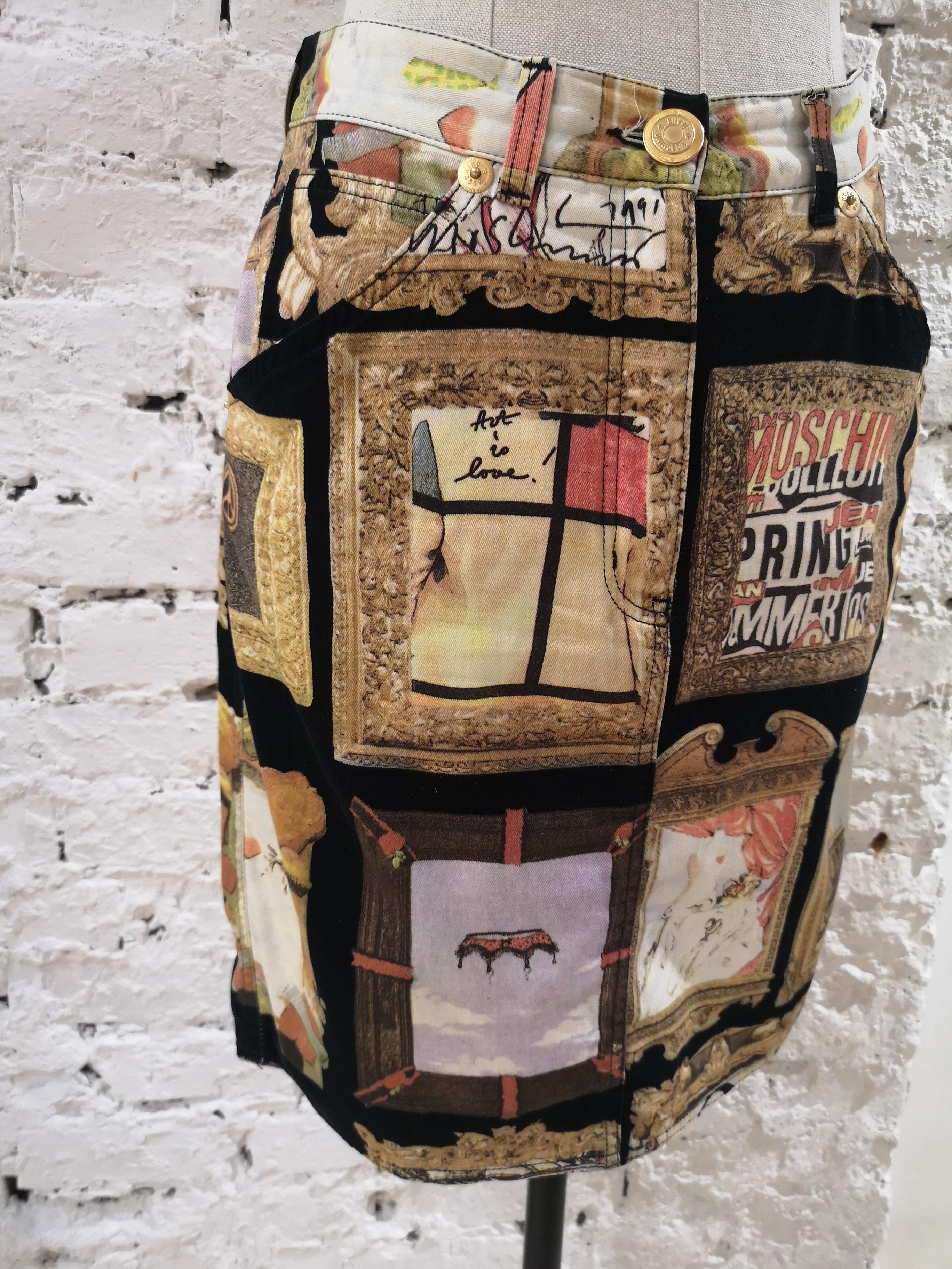 Moschino Frames Cotton Skirt Moschino | Skirts | SD01960C DXACORNICI