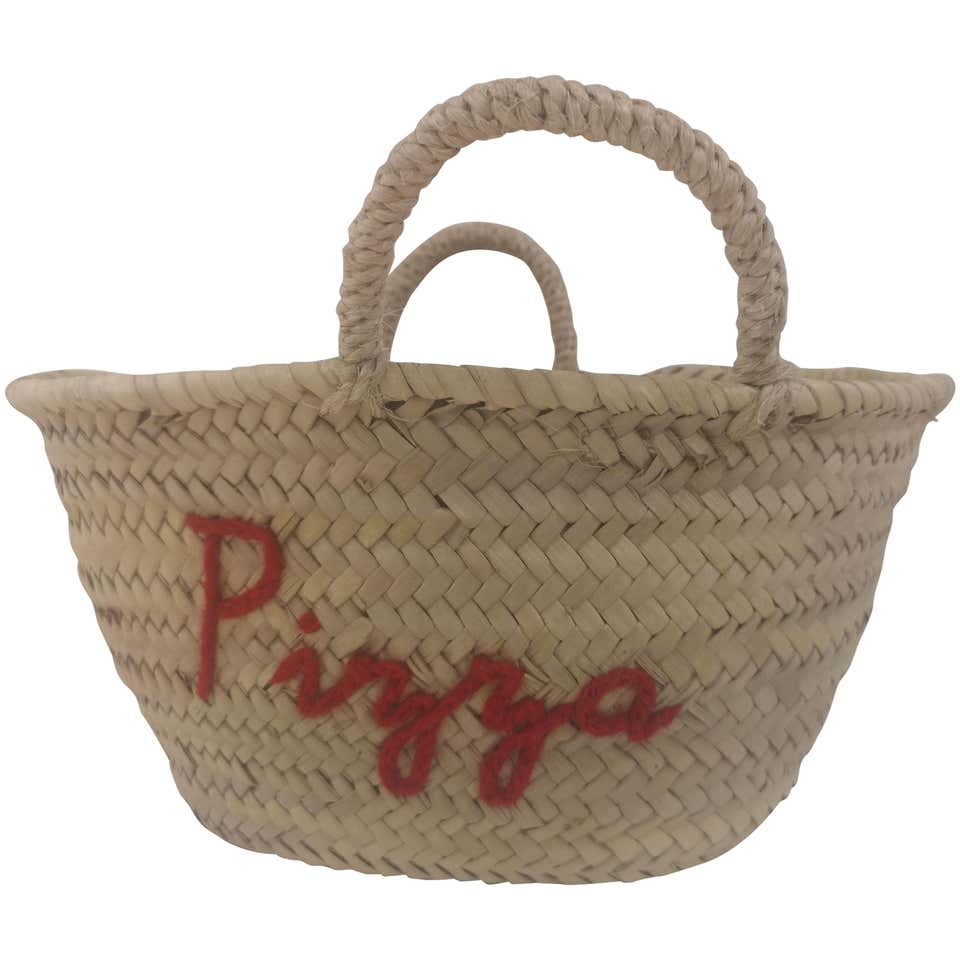 Pizza rafia handbag Poolside bag | Bags | MINI MARKETPIZZA