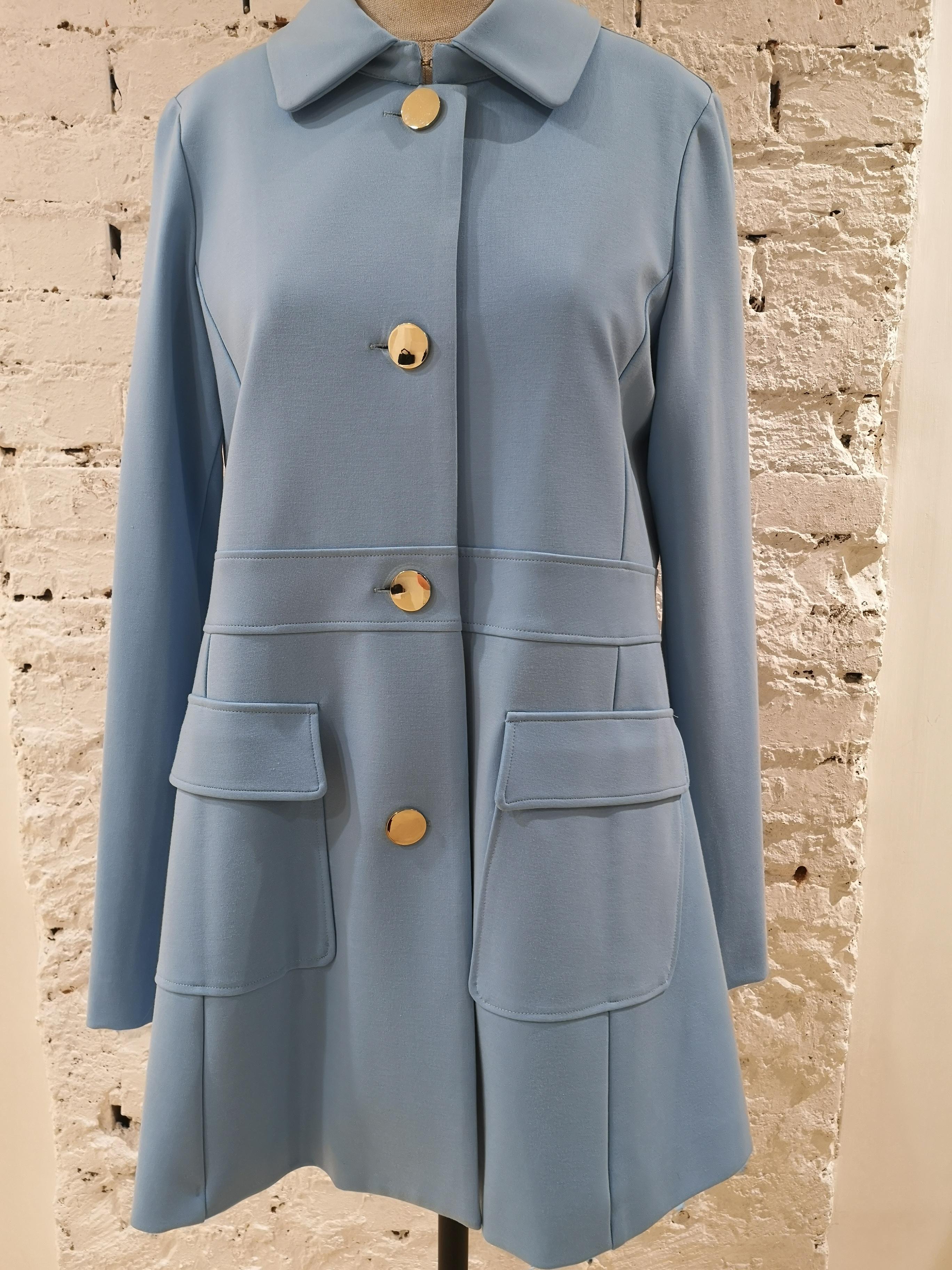 Scee Light Blue Coat Scee | Coats | BL01970XSACELESTE