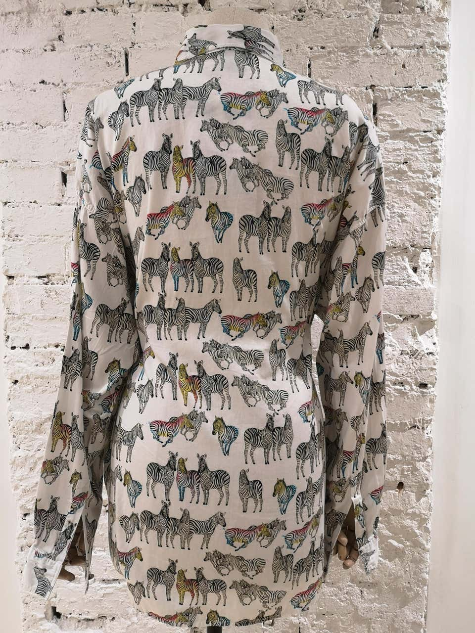 Gianni Versace White Zibra cotton Shirt Versace | Shirts | SD019175XSDSZZEBRA
