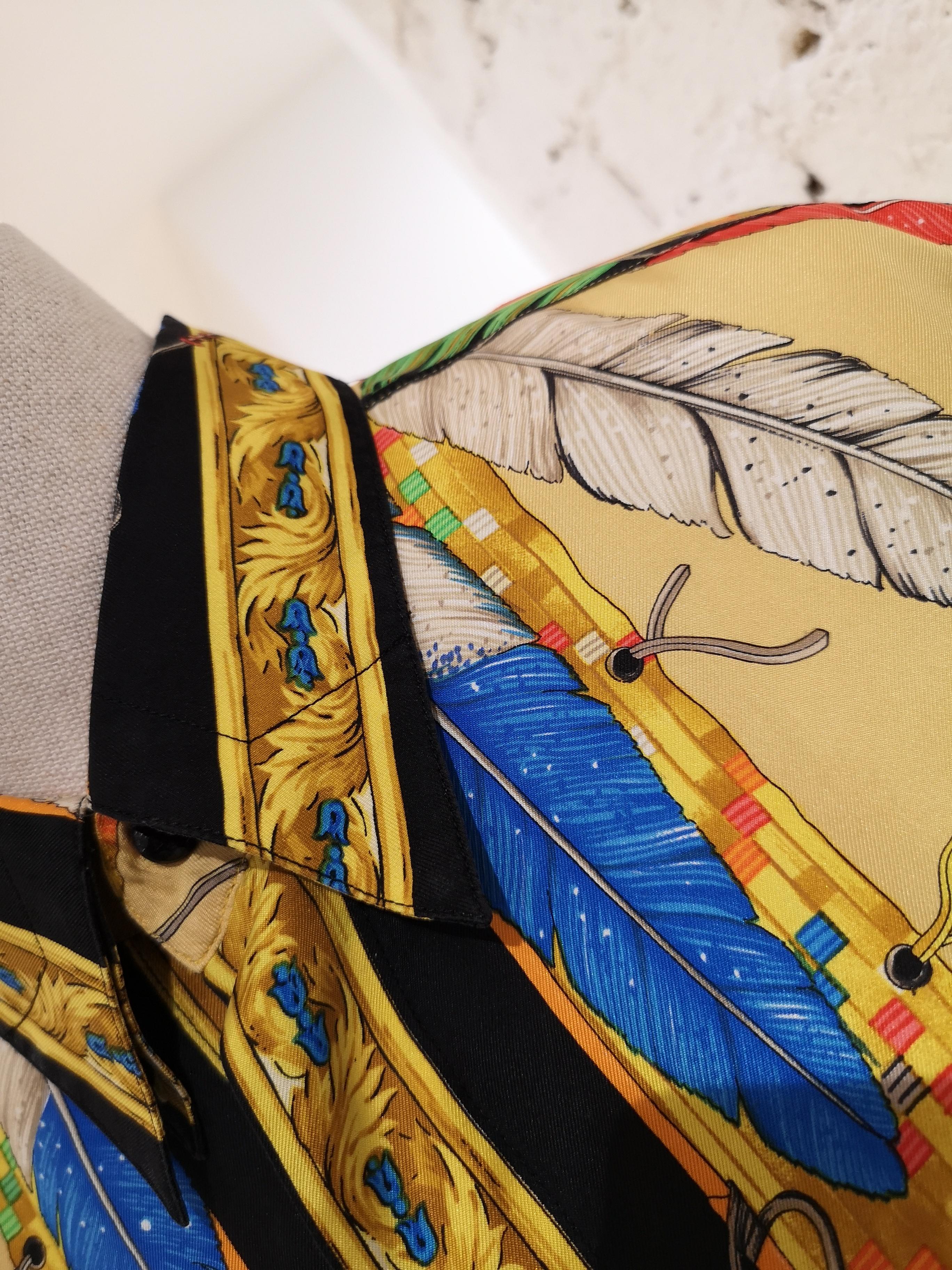 Versace Indian Silk Shirt Versace   Shirts   SZ01945X0QAINDIANI