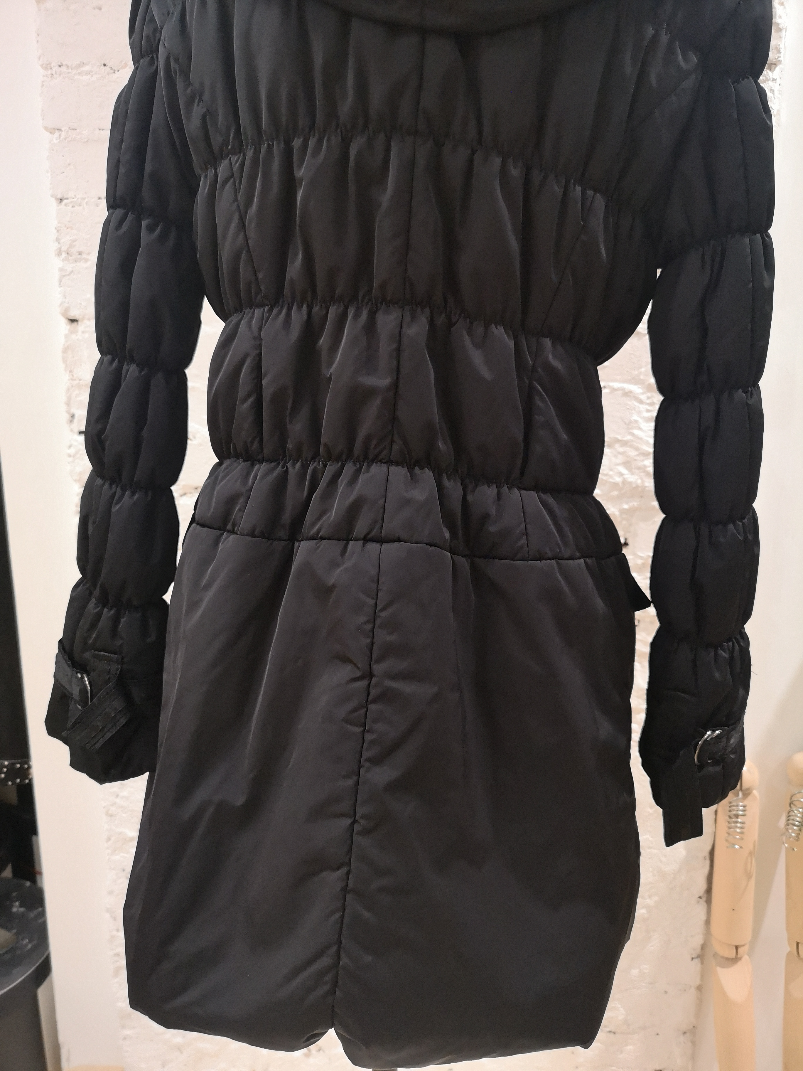 De Santis black collar long coat / bomber VIntage | Coats | BF019250XS00NERO
