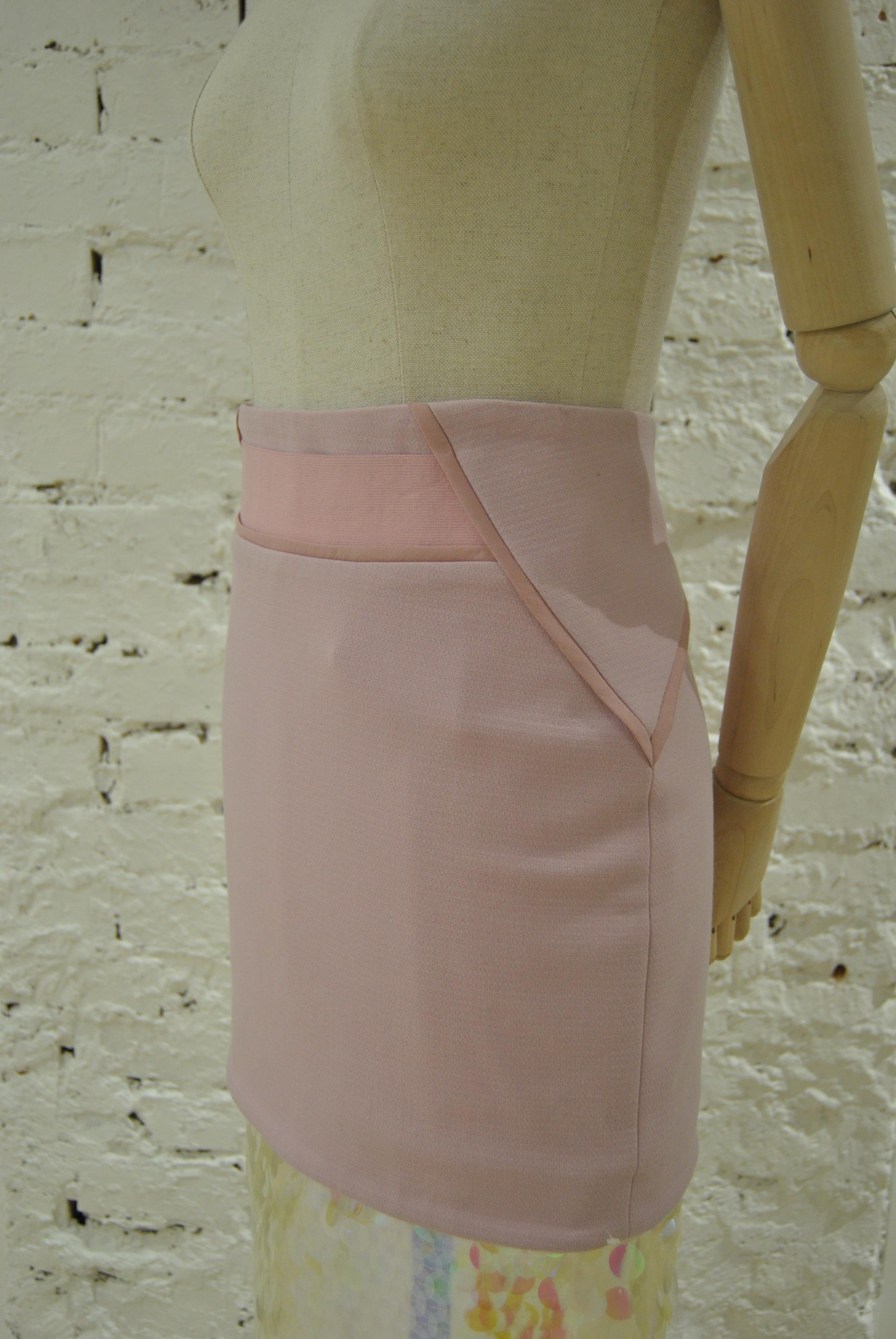 Three Floor Pink Sequines Skirt VIntage | Gonna | VXR0195XSVCBRETELLE