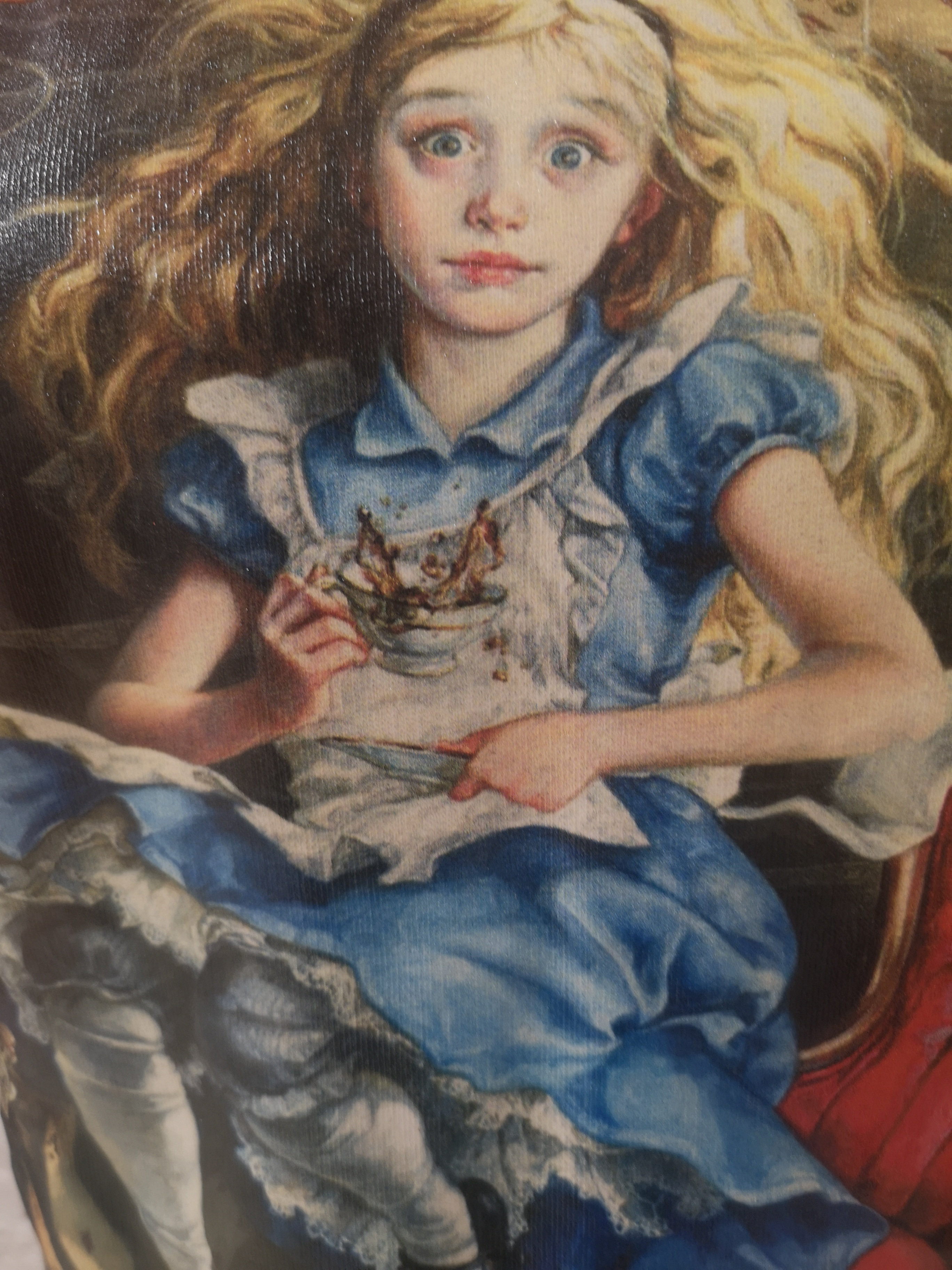 Gli Psicopatici orange Alice in Wonderland dress / sweater Gli Psicopatici | Felpa | FELPAALICE