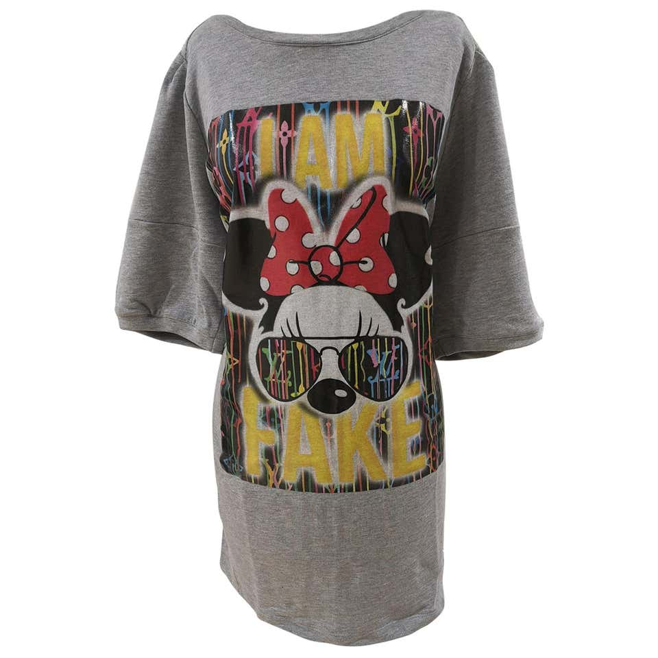 Gli Psicopatici I am Fake Minnie cotton long dress / sweater Gli Psicopatici | Felpa | FELPAFAKE