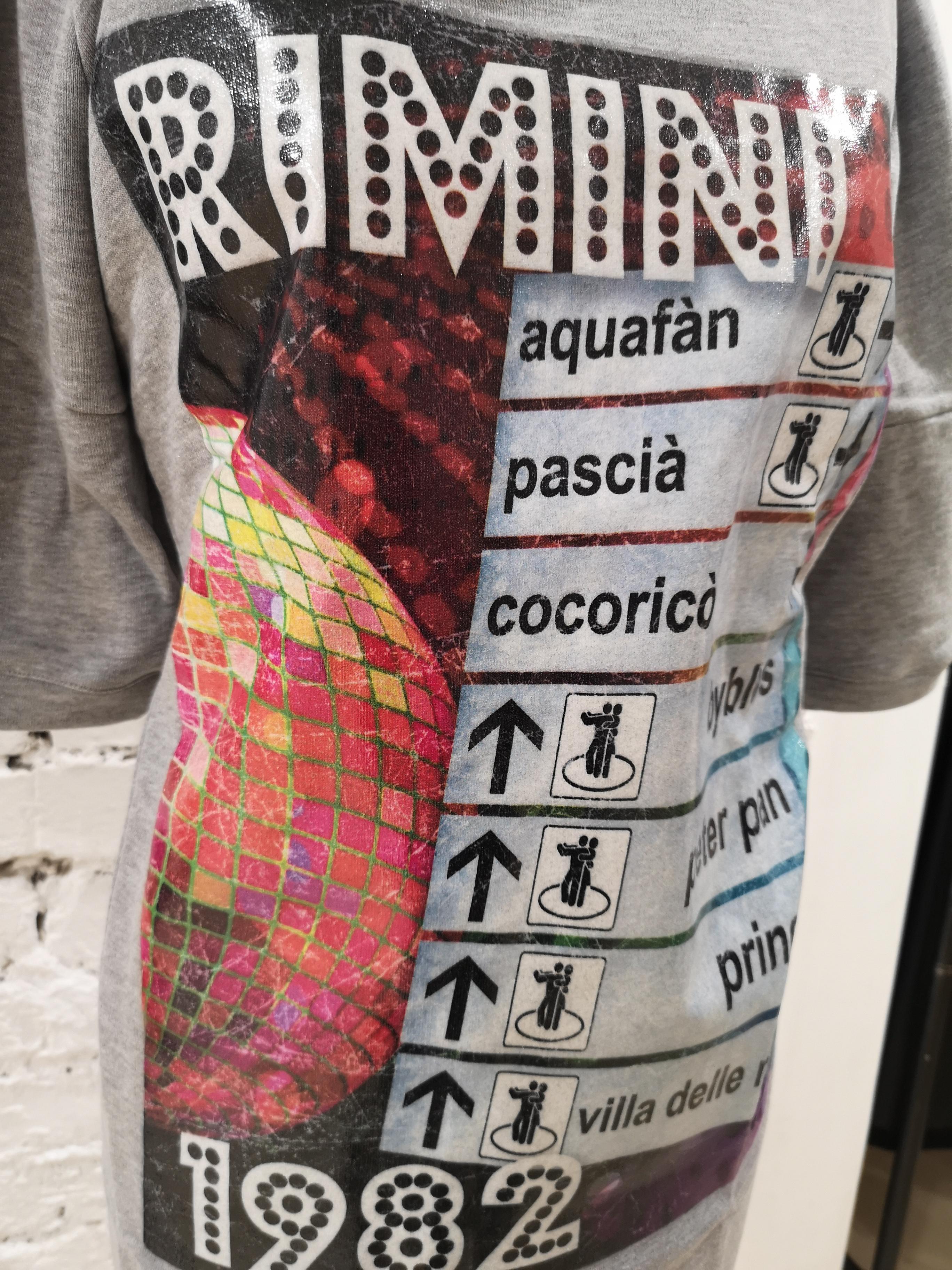 Gli Psicopatici Grey Rimini long Dress / Sweater Gli Psicopatici | Felpa | FELPAGRIGIA