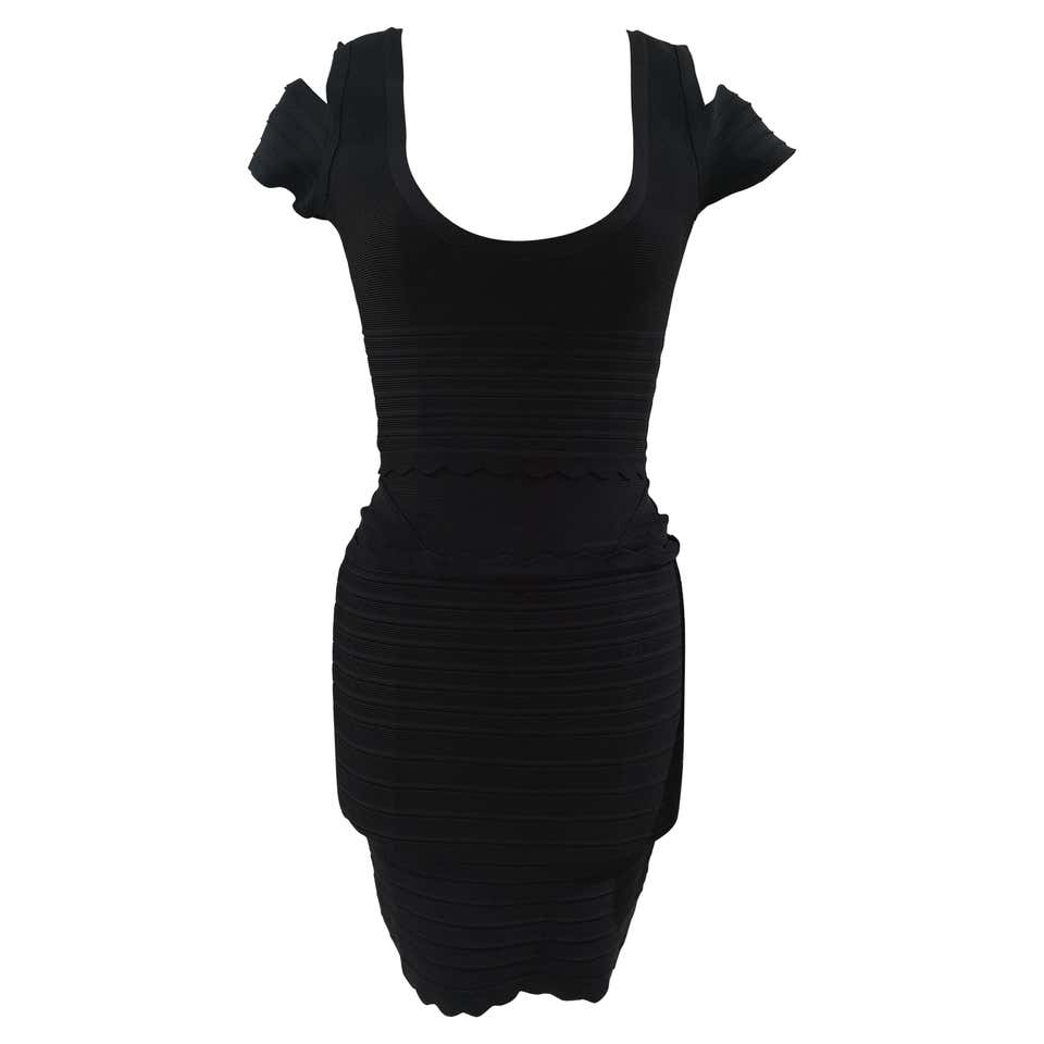 Herve Leger Black Dress RTW Herve Leger | Abito | DUC020180SCDNERO