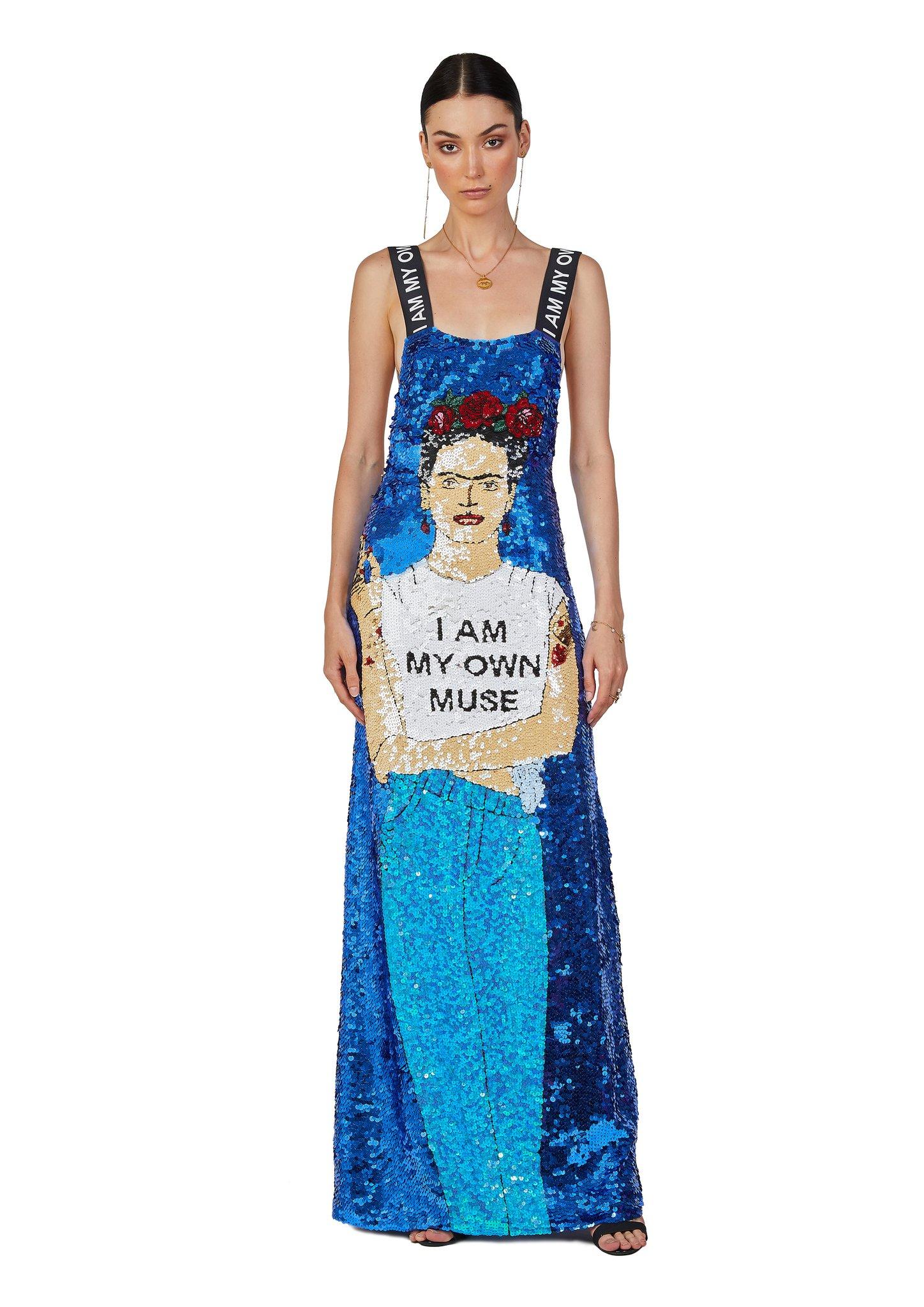 Frida I am my own muse sequins dress House of Muamua | Abito | FRIDA MUSEMULTI