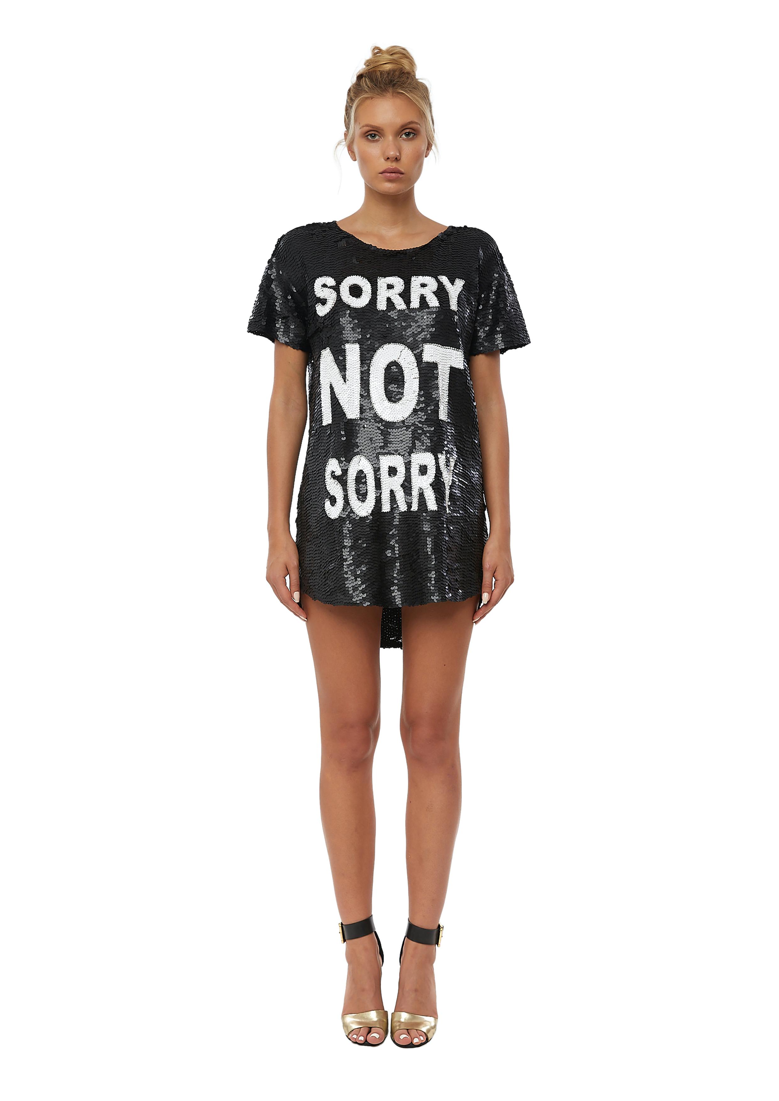 Sorry not Sorry black sequins dress House of Muamua | Abito | SORRYNERO