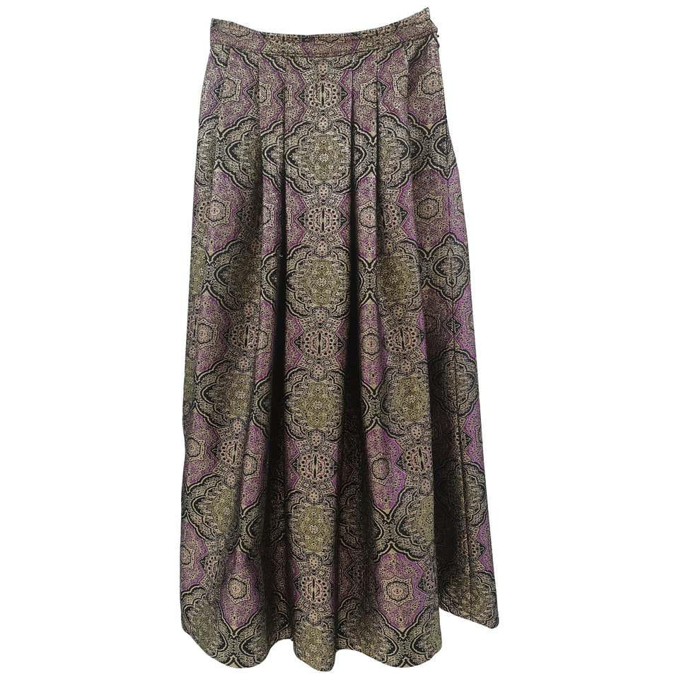 Il Quadrifoglio gold purple vintage skirt Il Quadrifoglio | Skirts | AT020XS25RV0DBROCCAT