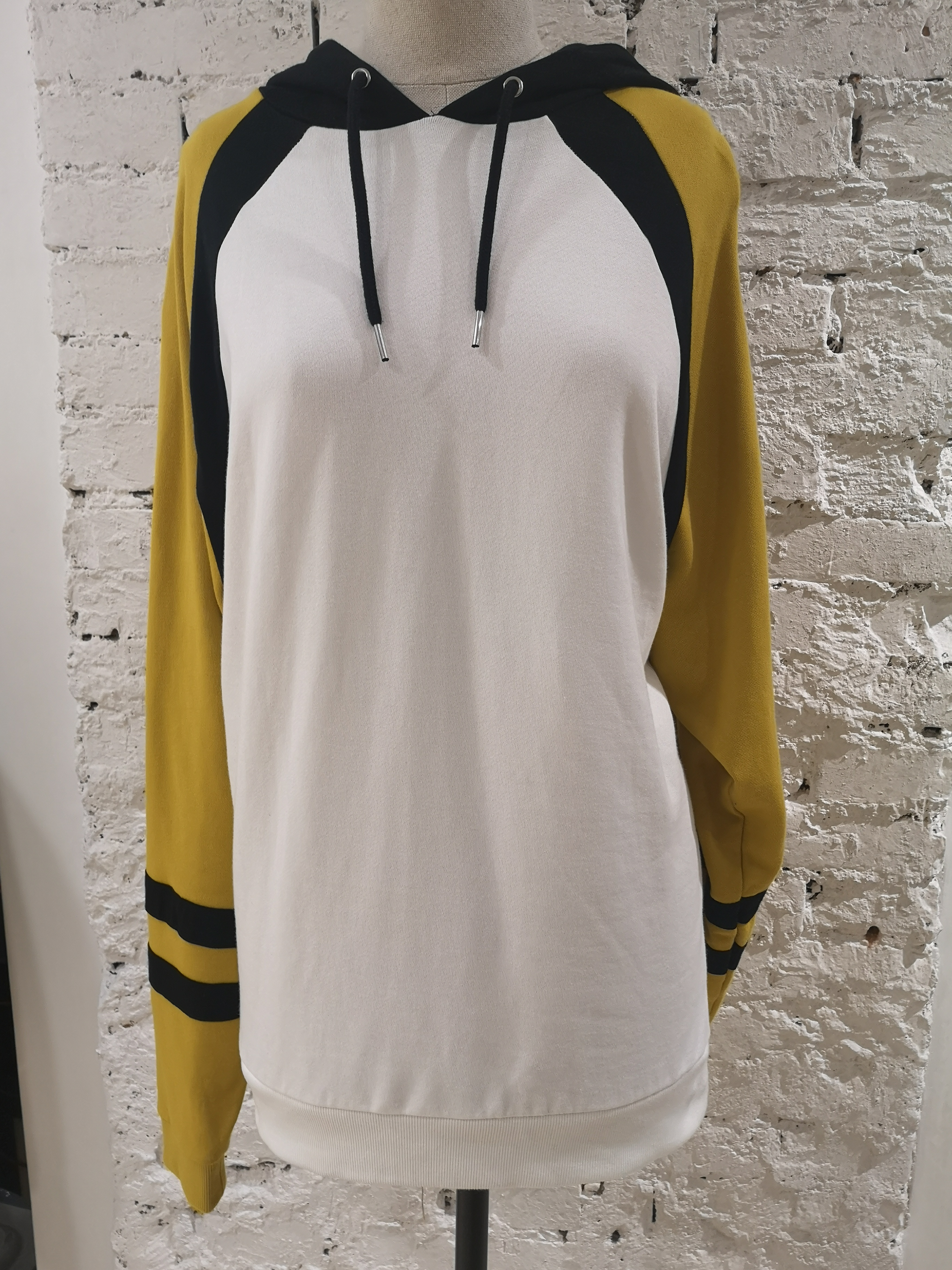 Kueen White , yellow black lion hoodie / sweater Kueen | Felpa | FELPA-