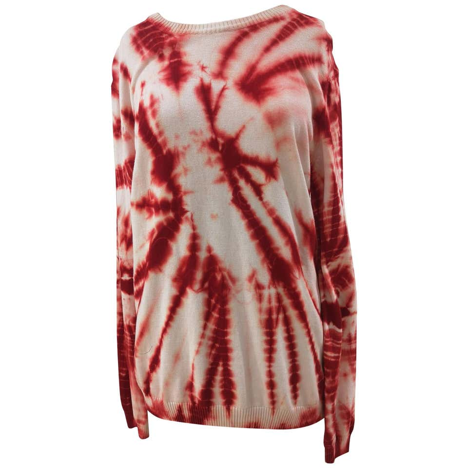 Kueen white red scandal sweater Kueen | Felpa | PULL IN FILOBIANCO ROSSO