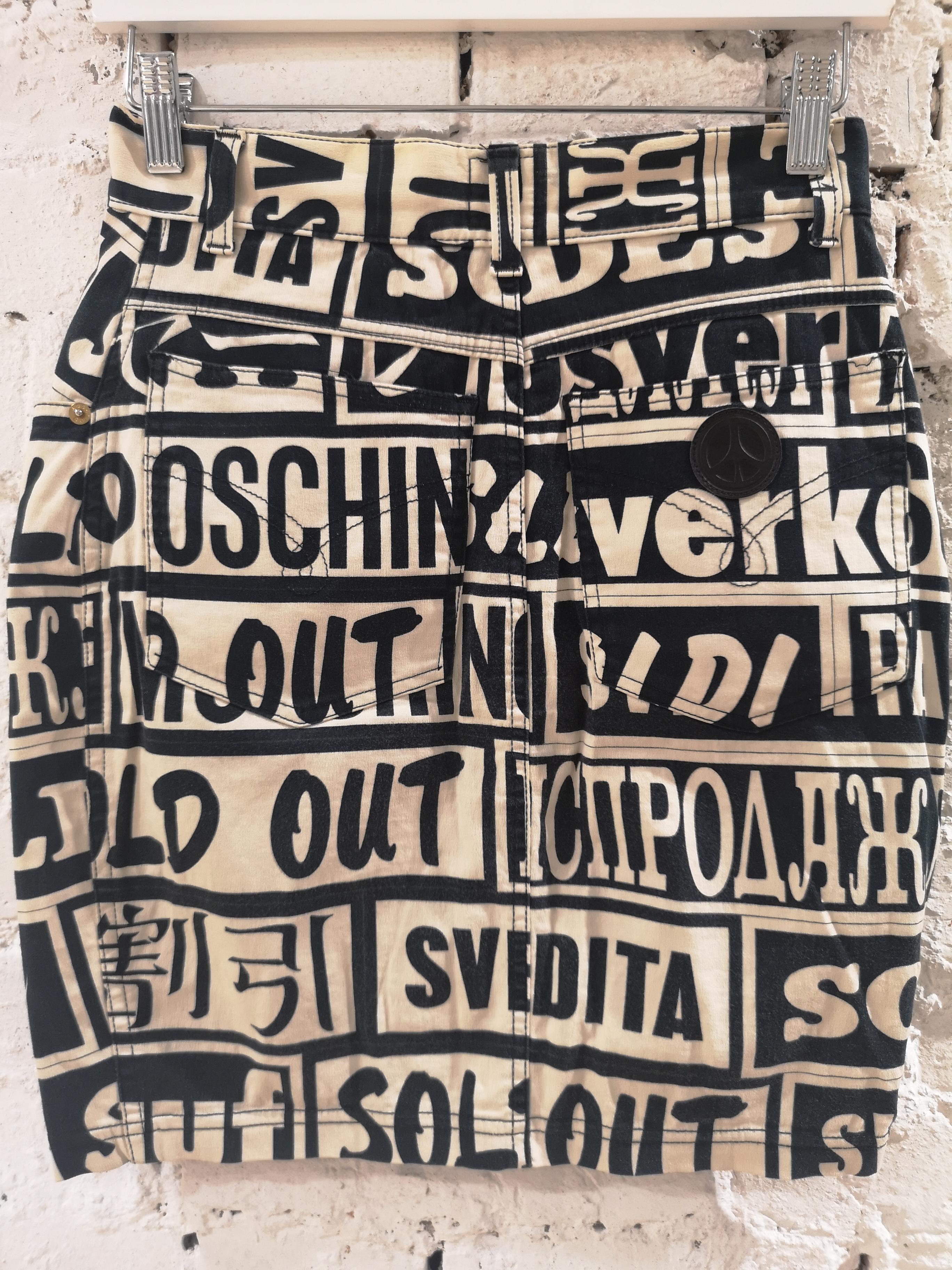 Moschino black and white Sales skirt moschino | Skirt | SD020XSFC080FCSB NERO