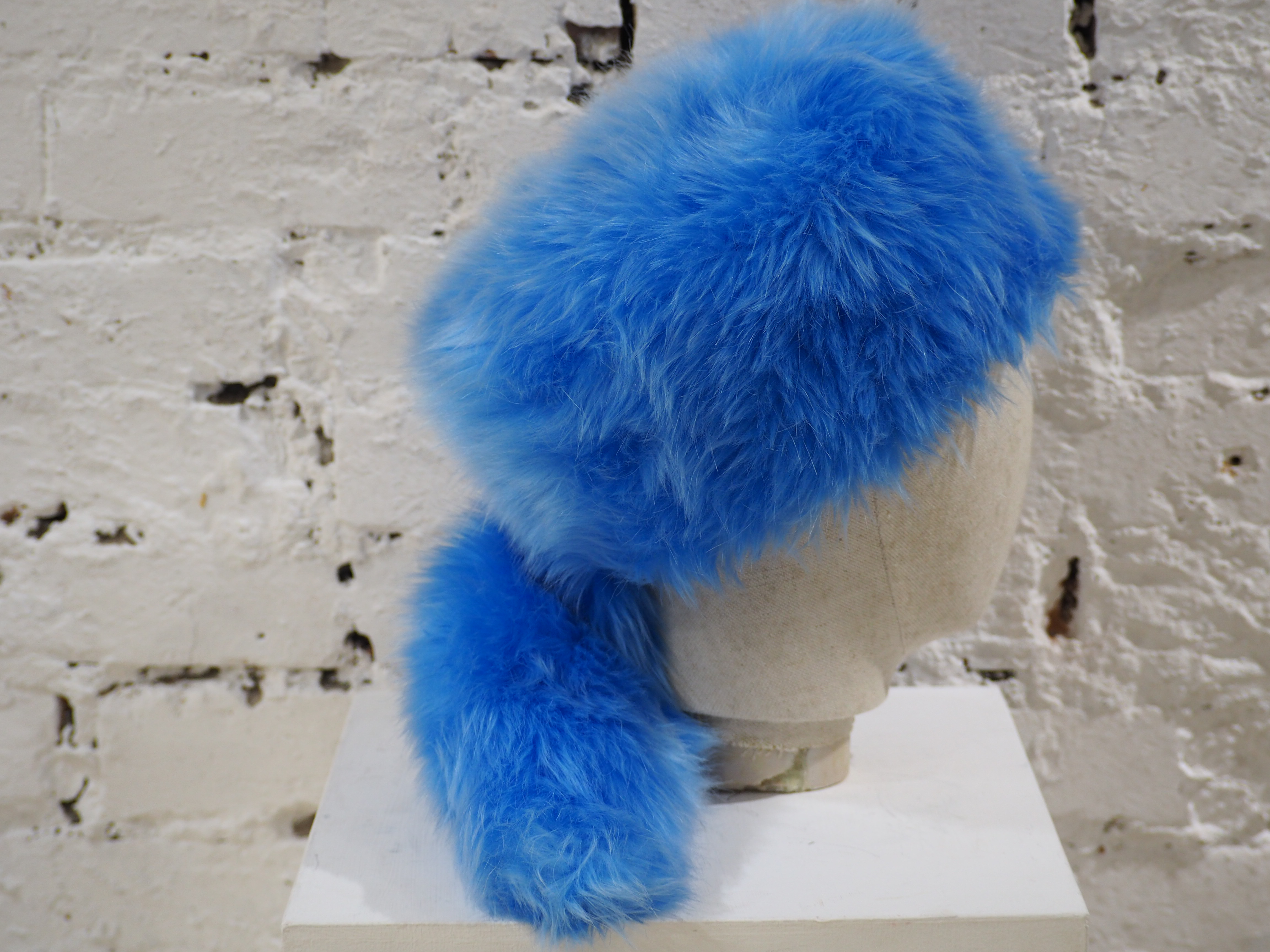 Prada light blue faux fox fur hat NWOT Prada | Hats | HATAZZURRO
