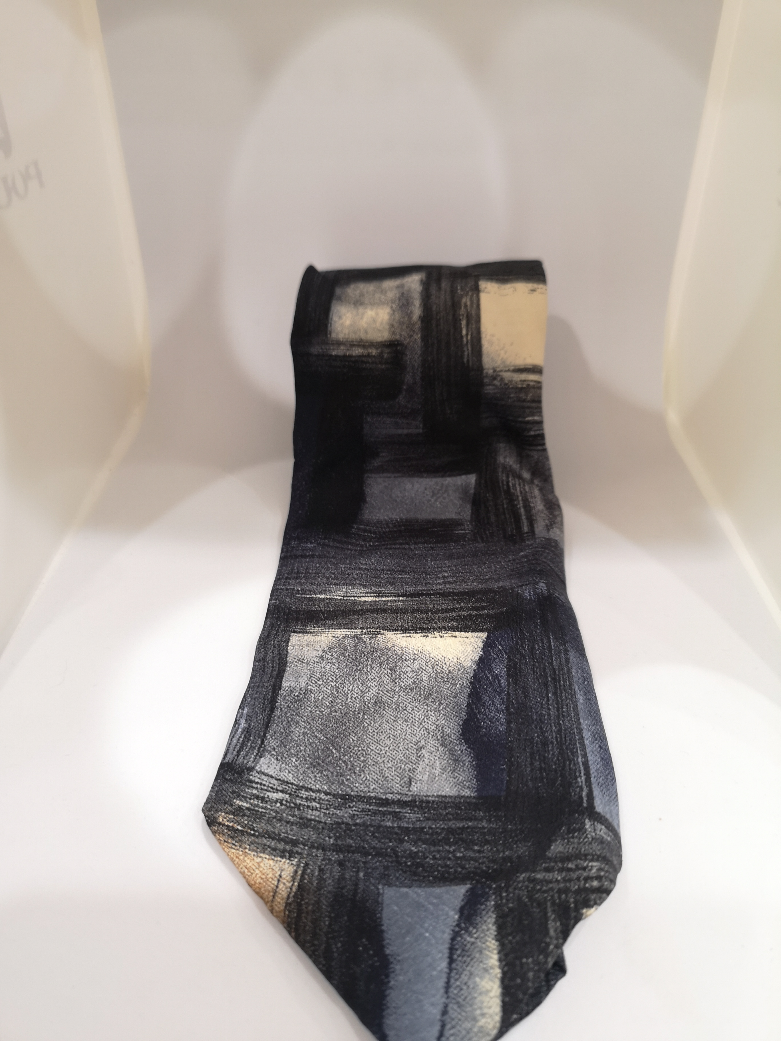 Hubert multicoloured silk tie VIntage   Cravatta   CRAVATTA29