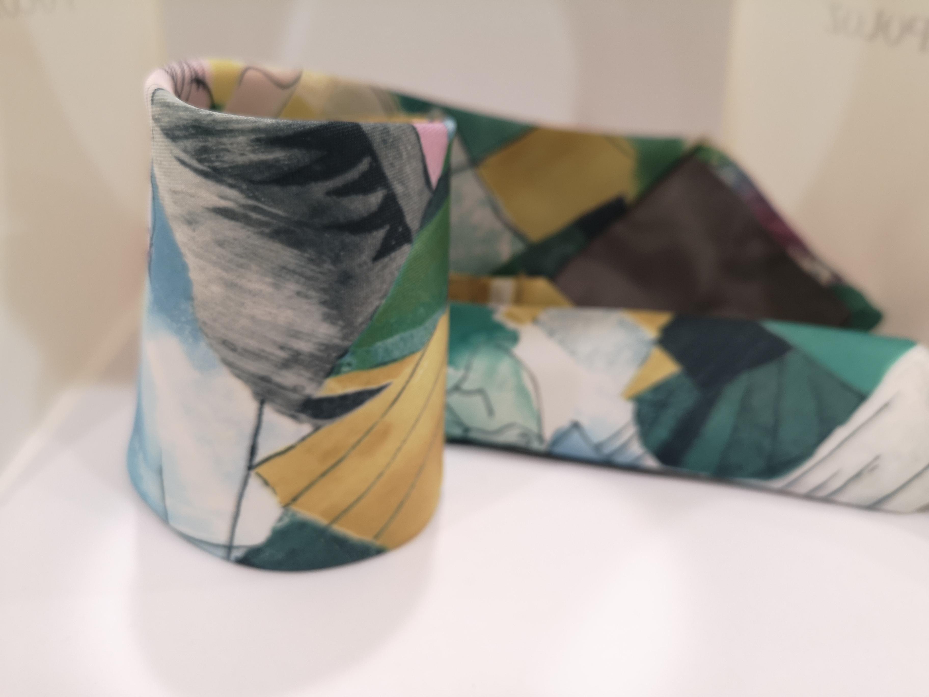 Effetto seta multicoloured silk tie VIntage | Cravatta | CRAVATTA35