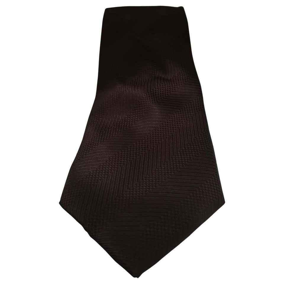 Vintage brown silk  tie VIntage   Cravatta   CRAVATTA39