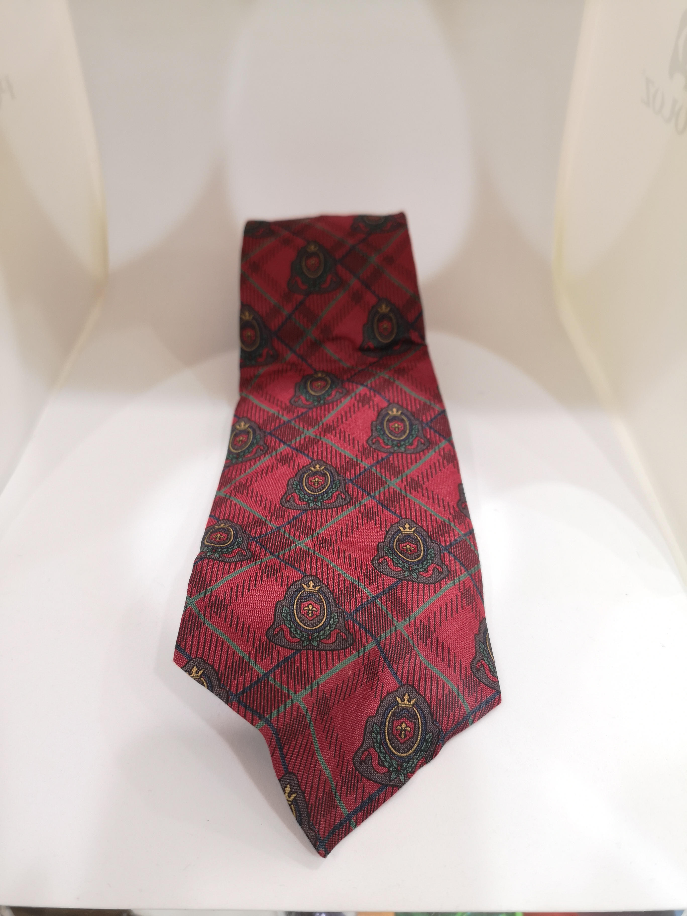 Stefano Rosi red multicoloured silk tie VIntage |  | CRAVATTA40