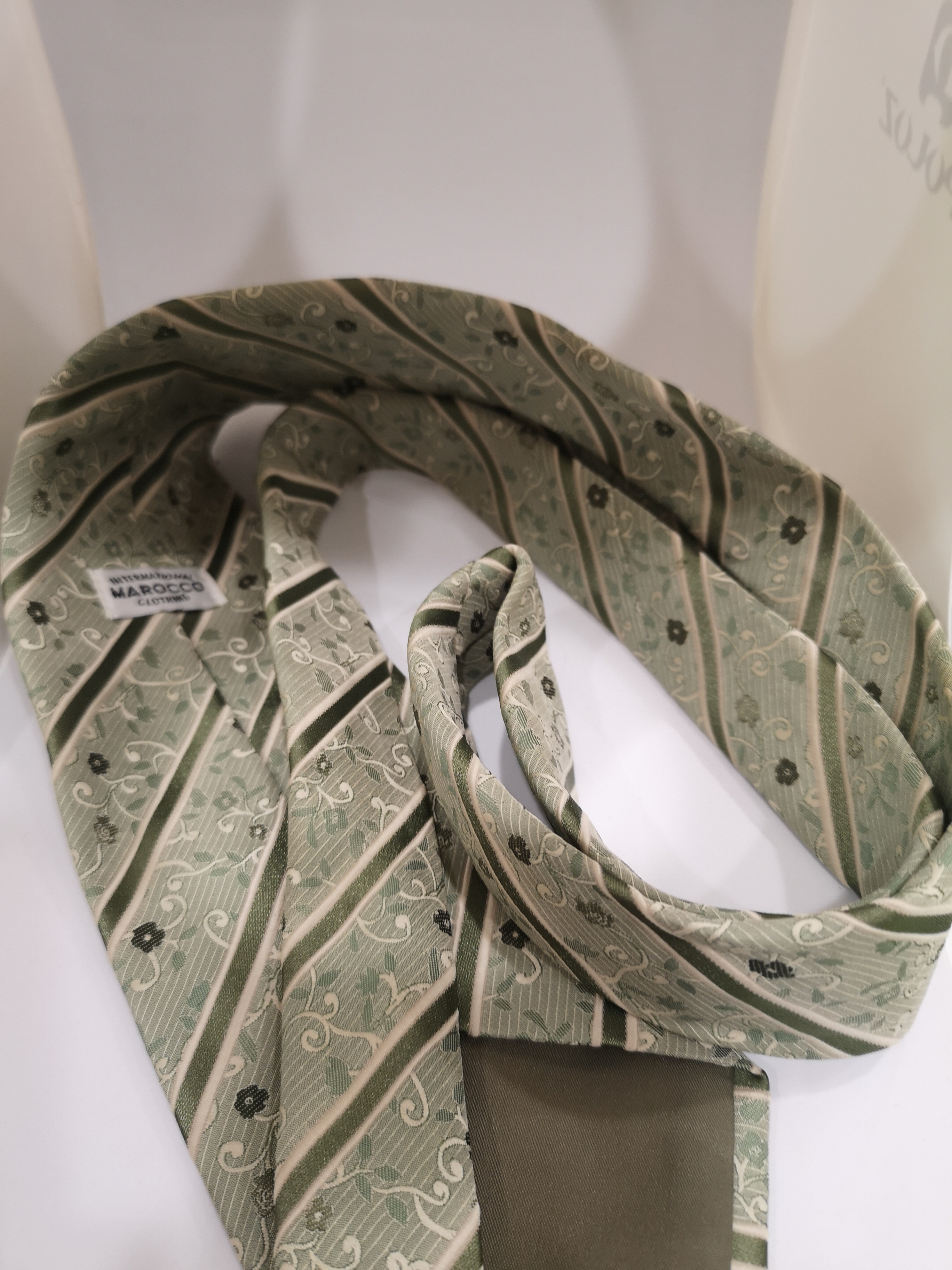 Marocco light green multicoloured Tie VIntage | Cravatta | CRAVATTA43