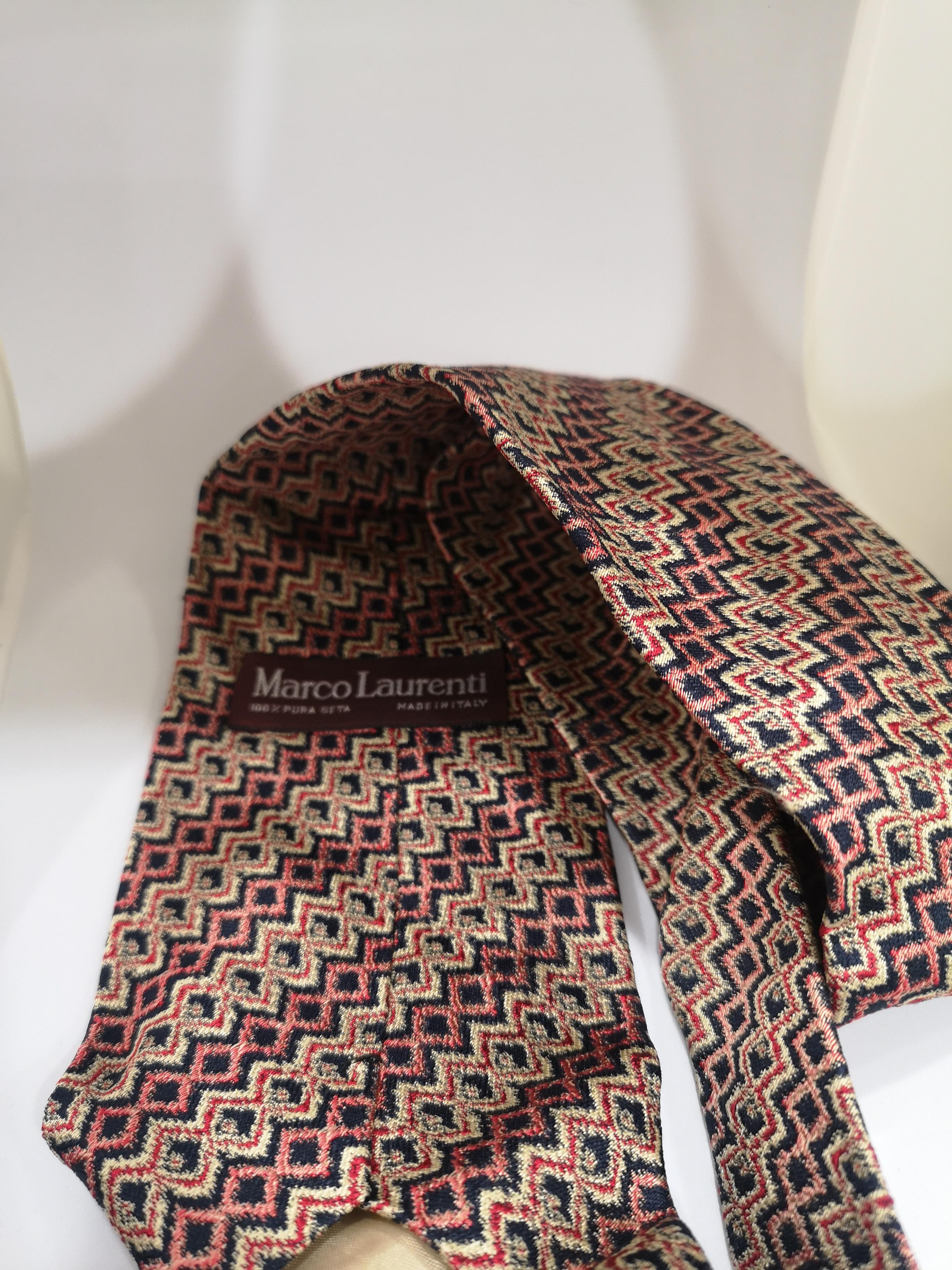Marco Laurenti multicoloured silk tie VIntage | Cravatta | CRAVATTA47
