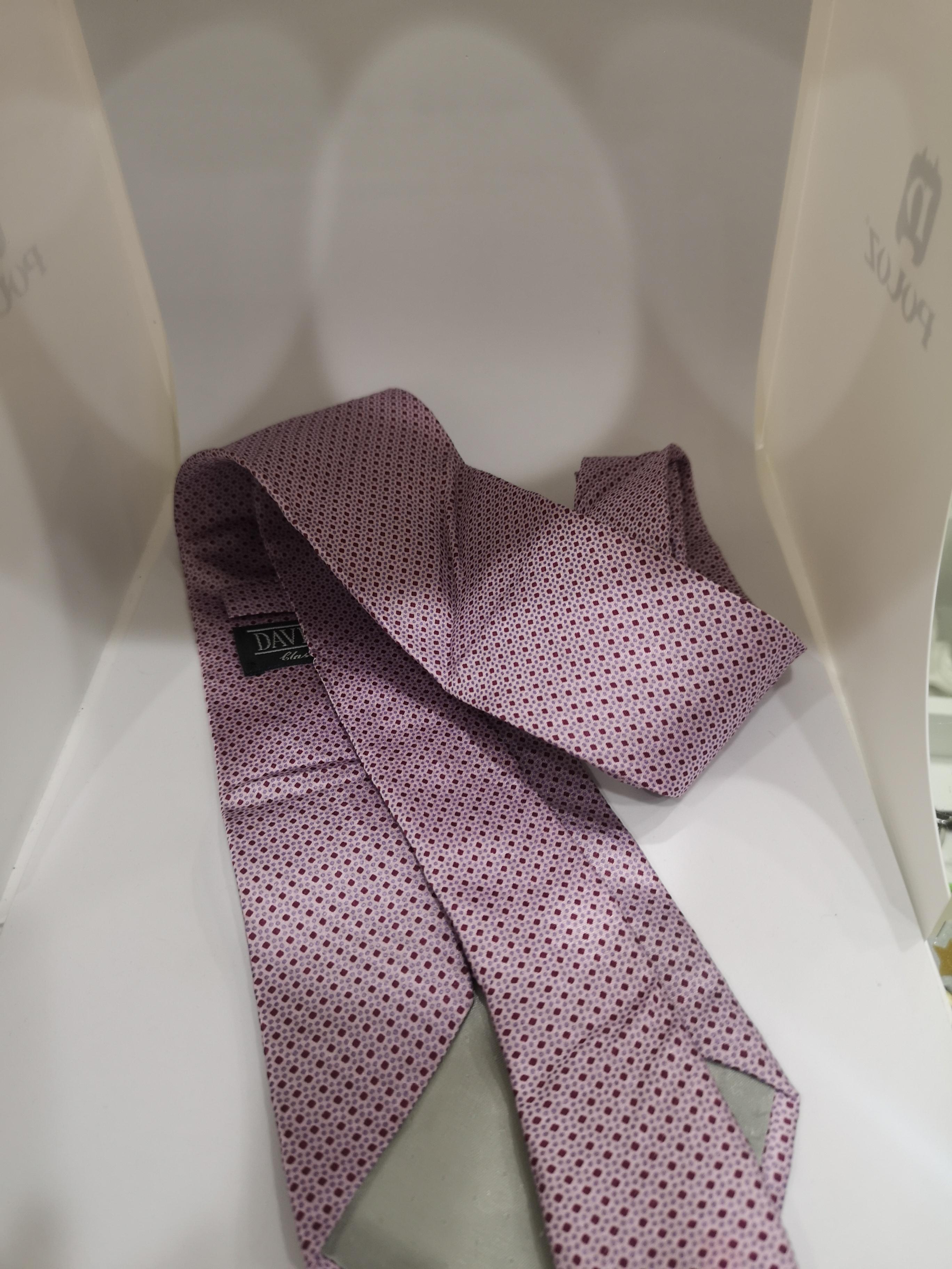 David & David Light purple / pink silk tie VIntage |  | CRAVATTA51