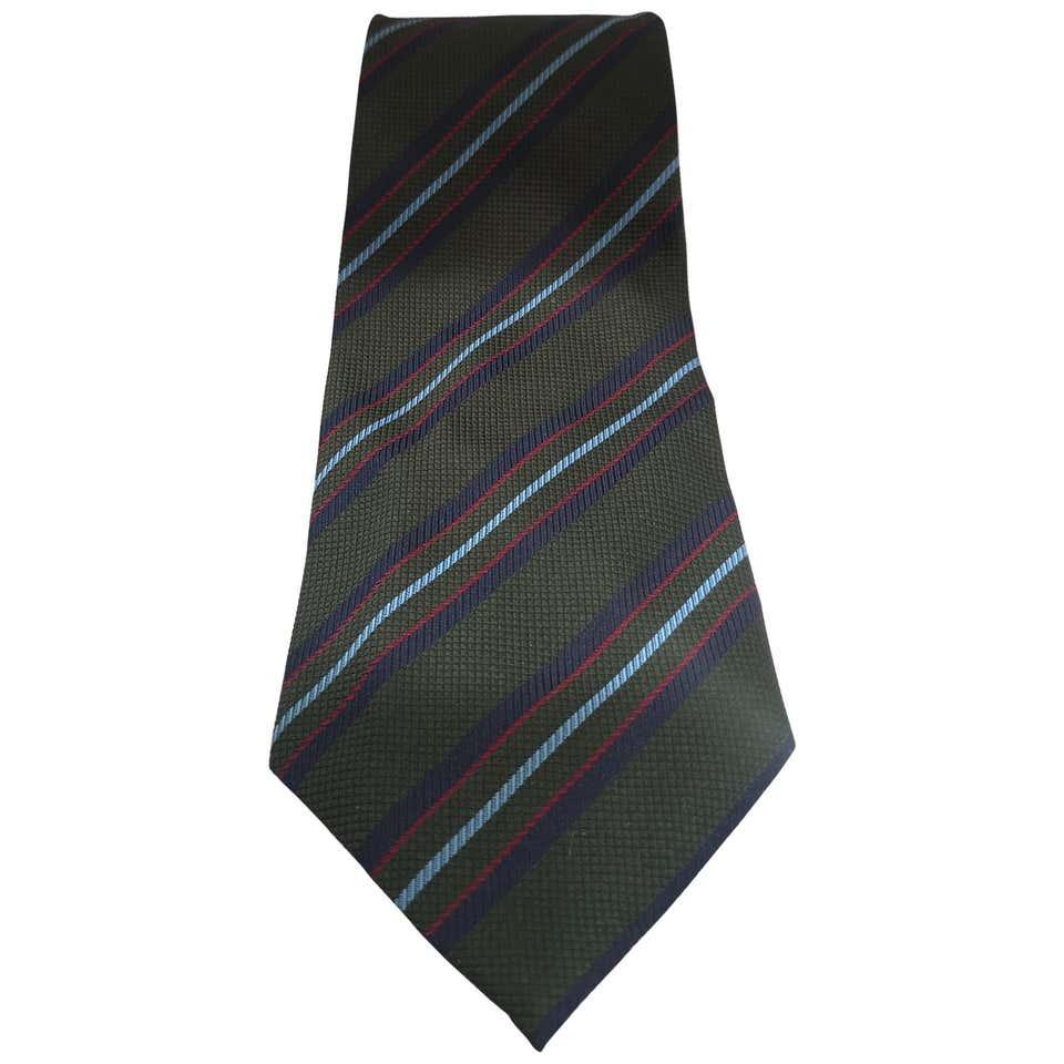 Green multicoloured silk tie VIntage      CRAVATTA52
