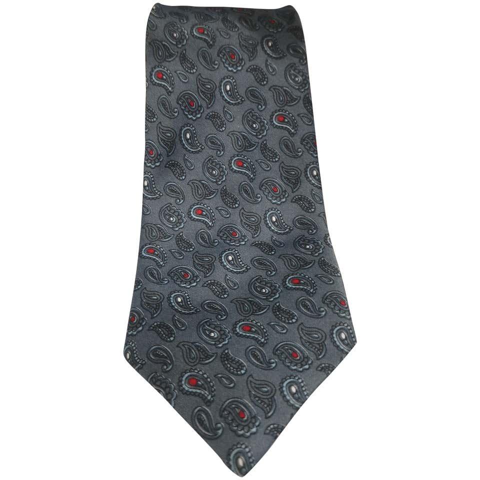 Cleonoro grey silk tie VIntage | Cravatta | CRAVATTA54