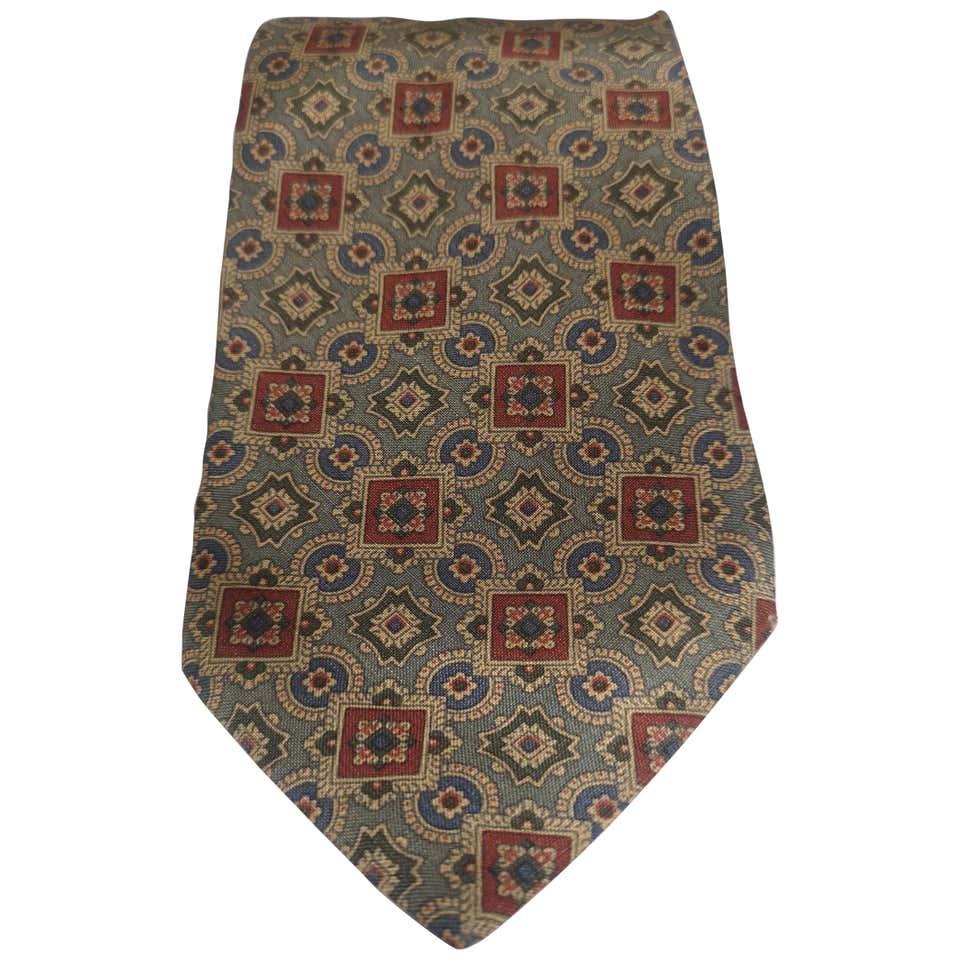 Giorgio Armani light green multicoloured silk tie Armani   Cravatta   TIEVERDE