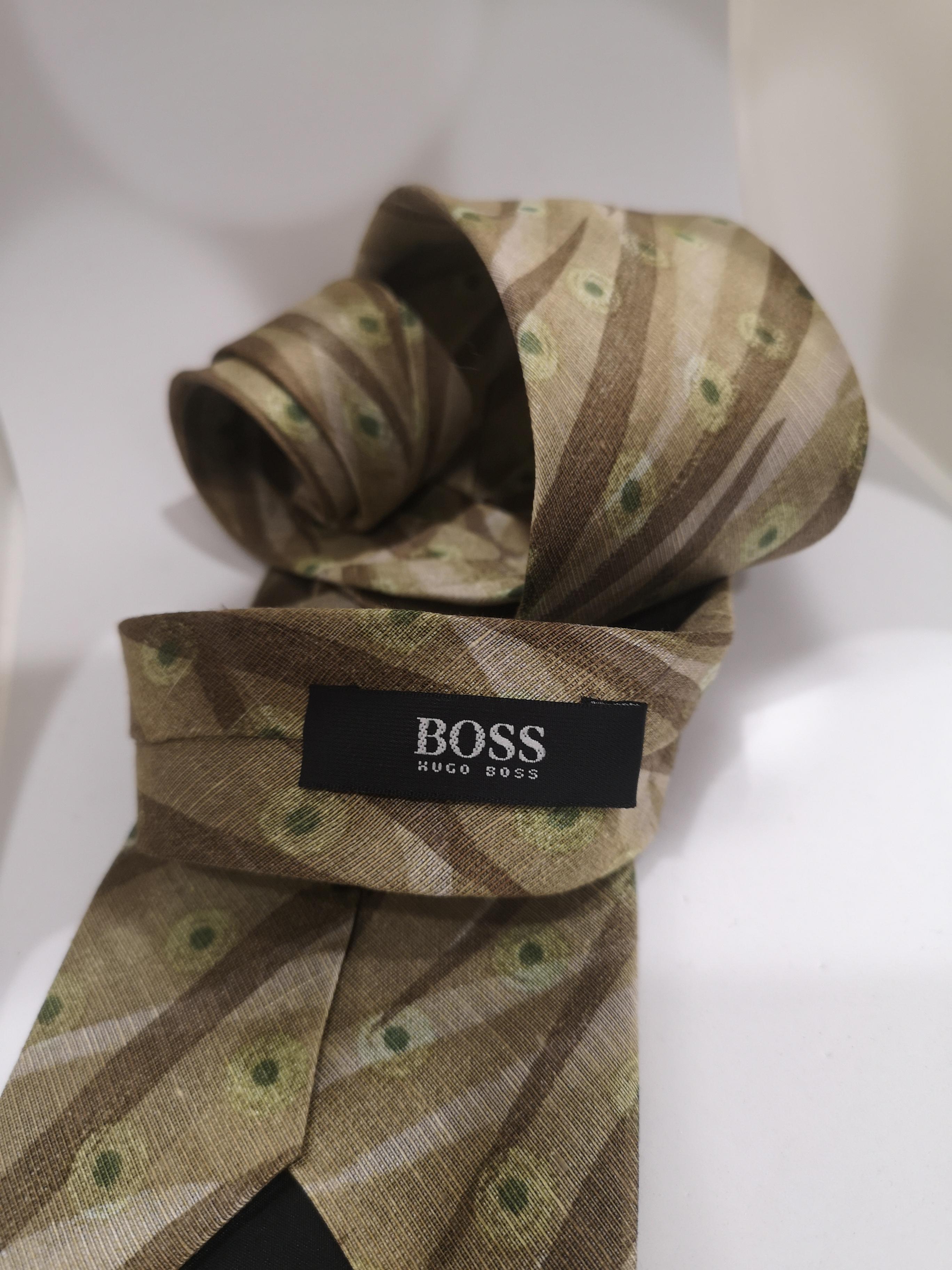 Boss light green multicoloured silk tie Boss |  | MARRONEMULTI111