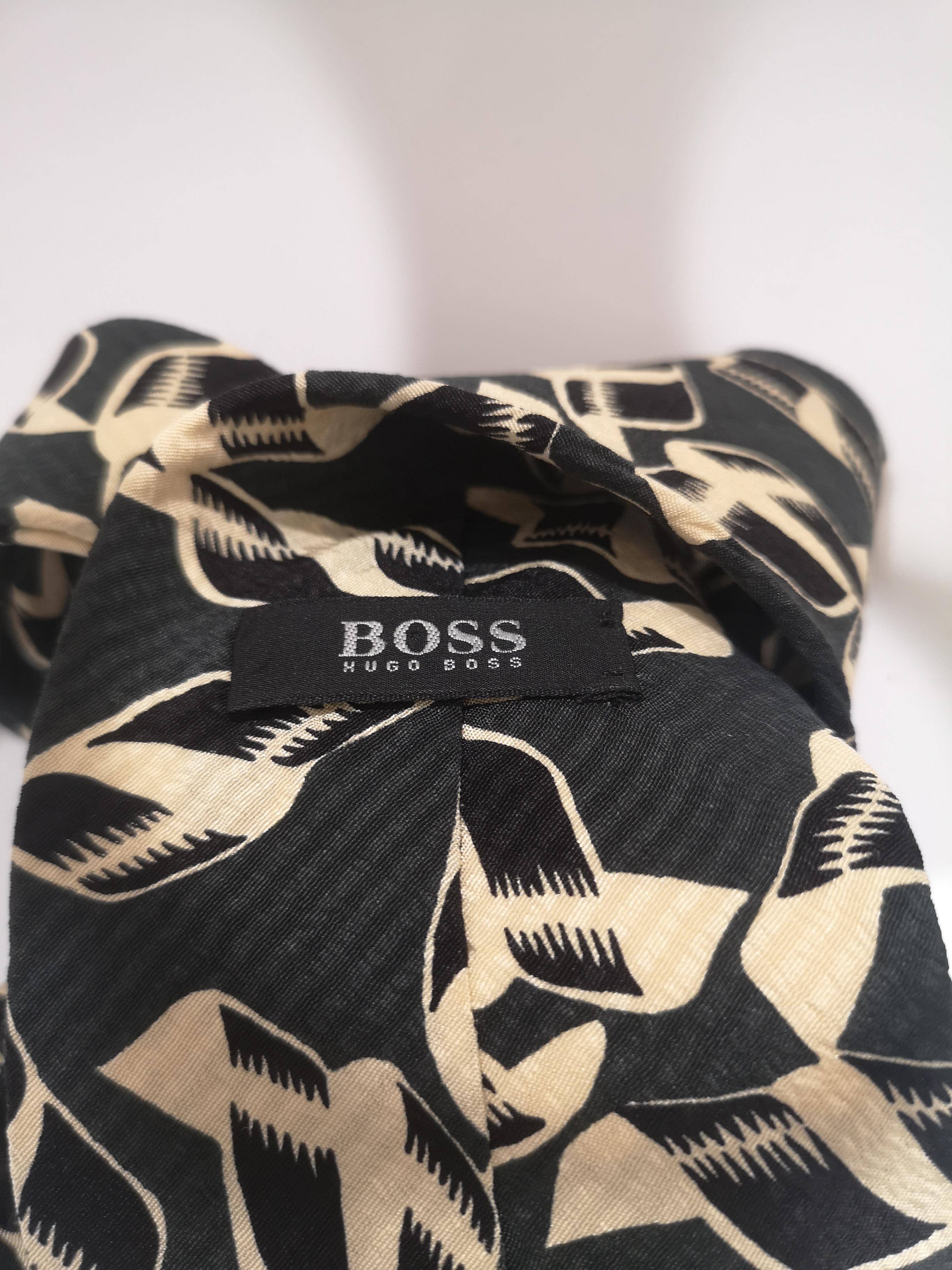 Boss green multicoloured tie Boss | Cravatta | MARRONEMULTI112