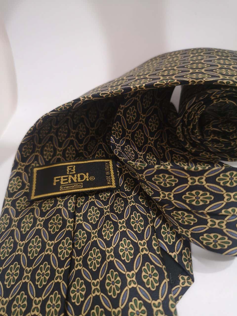 Fendi blue multicoloured silk tie Fendi |  | TIEBLUE
