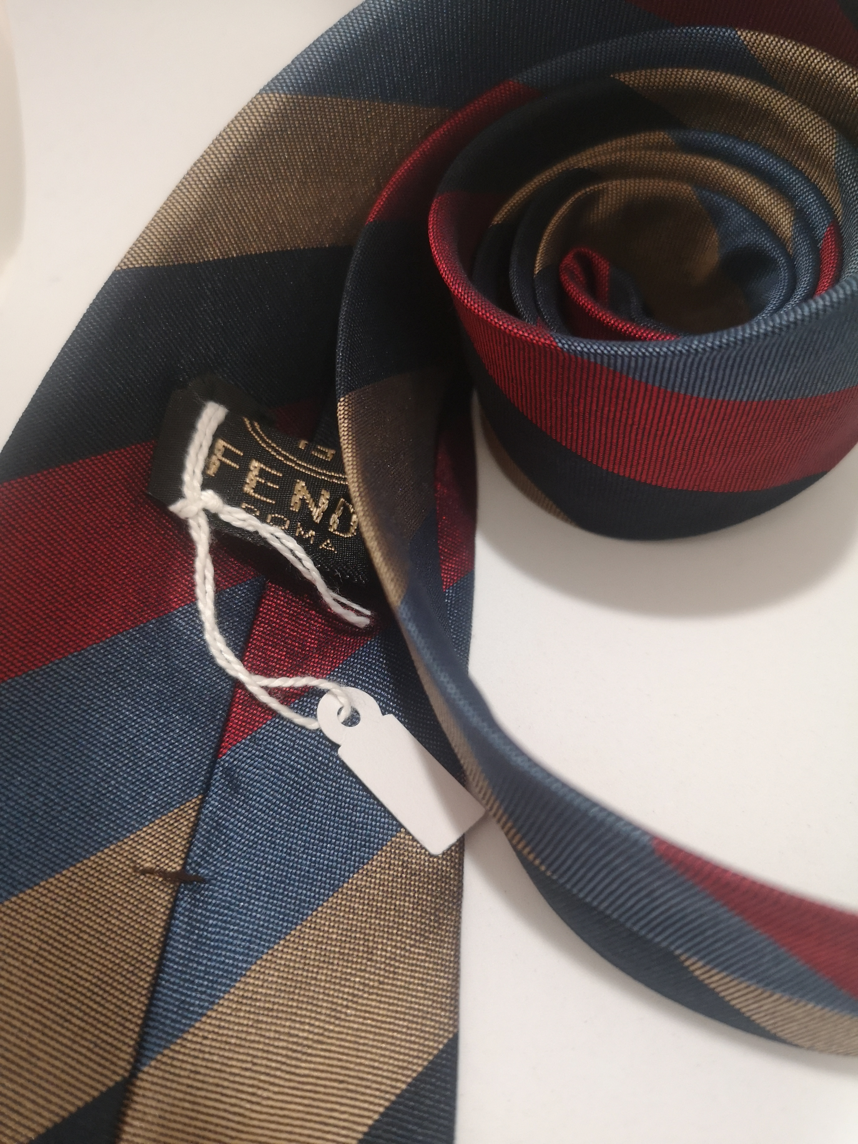 Fendi Vintage multicoloured silk tie Fendi | Cravatta | TIEROSSO MULTI