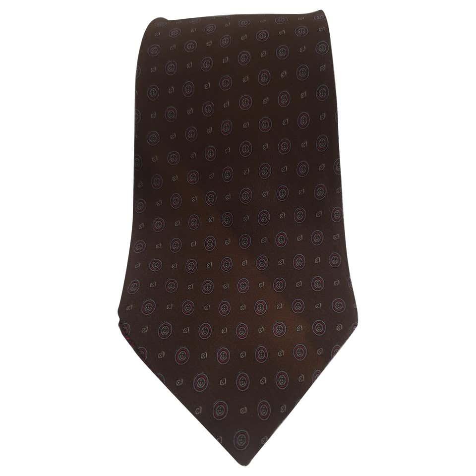 Gucci brown multicoloured silk tie Gucci | Cravatta | TIE1MARRONE