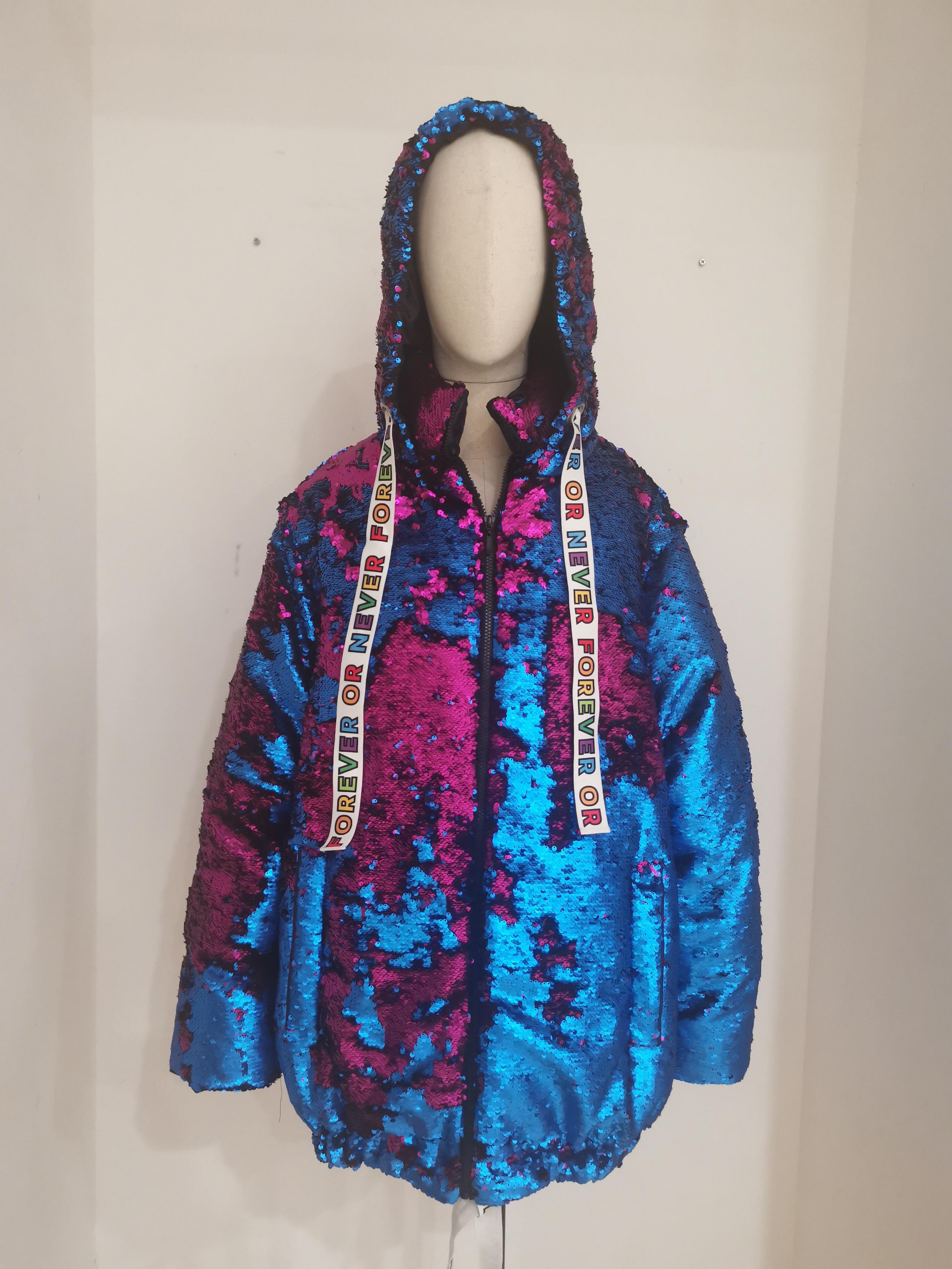 House of Mua Mua blue fucsia sequins bomber jacket House of Muamua | Bomber | BOMBERBLUE FUCSIA