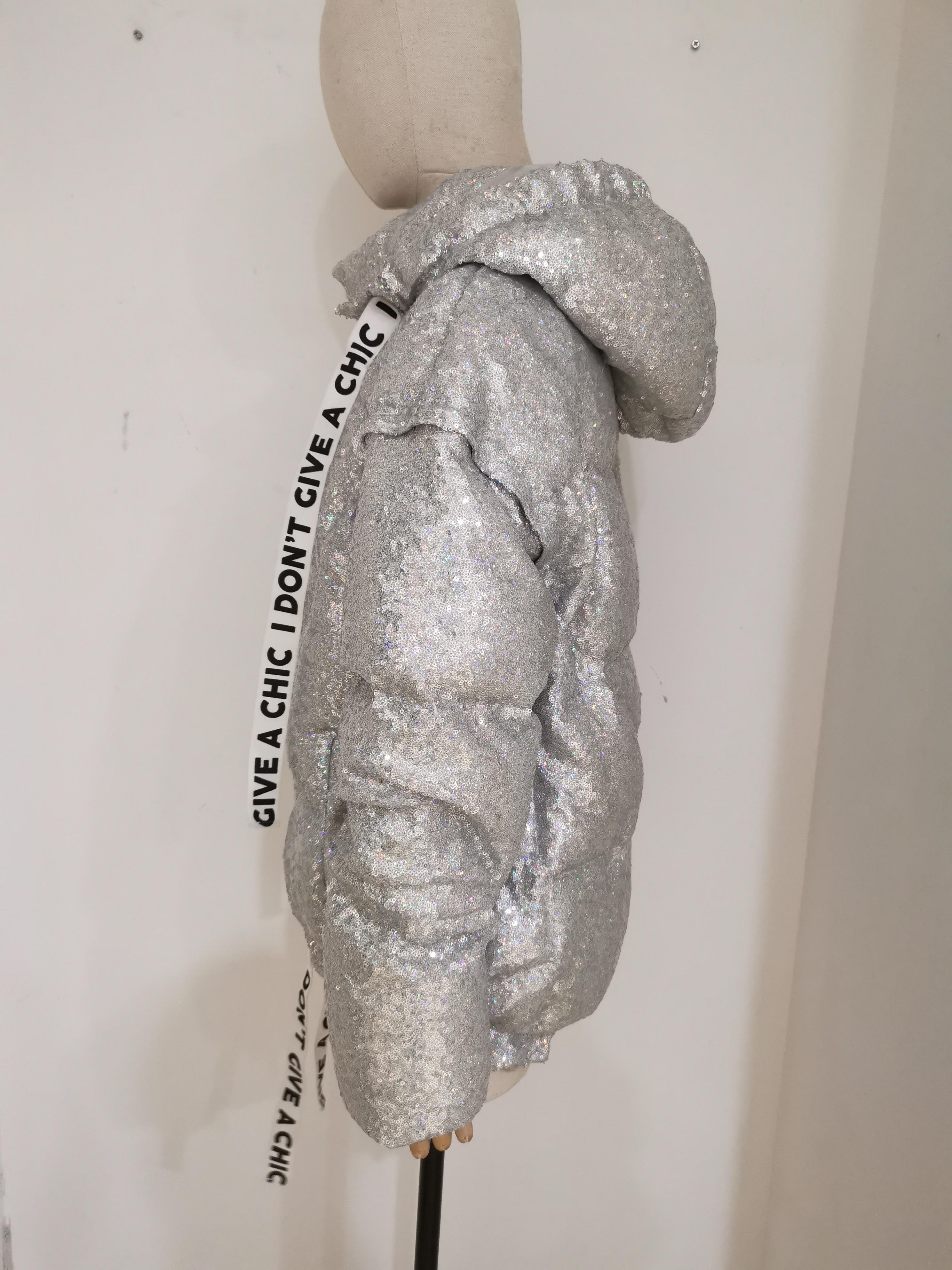 House of MuaMua silver sequins duvet bomber jacket House of Muamua | Bomber | BOMBERSILVER