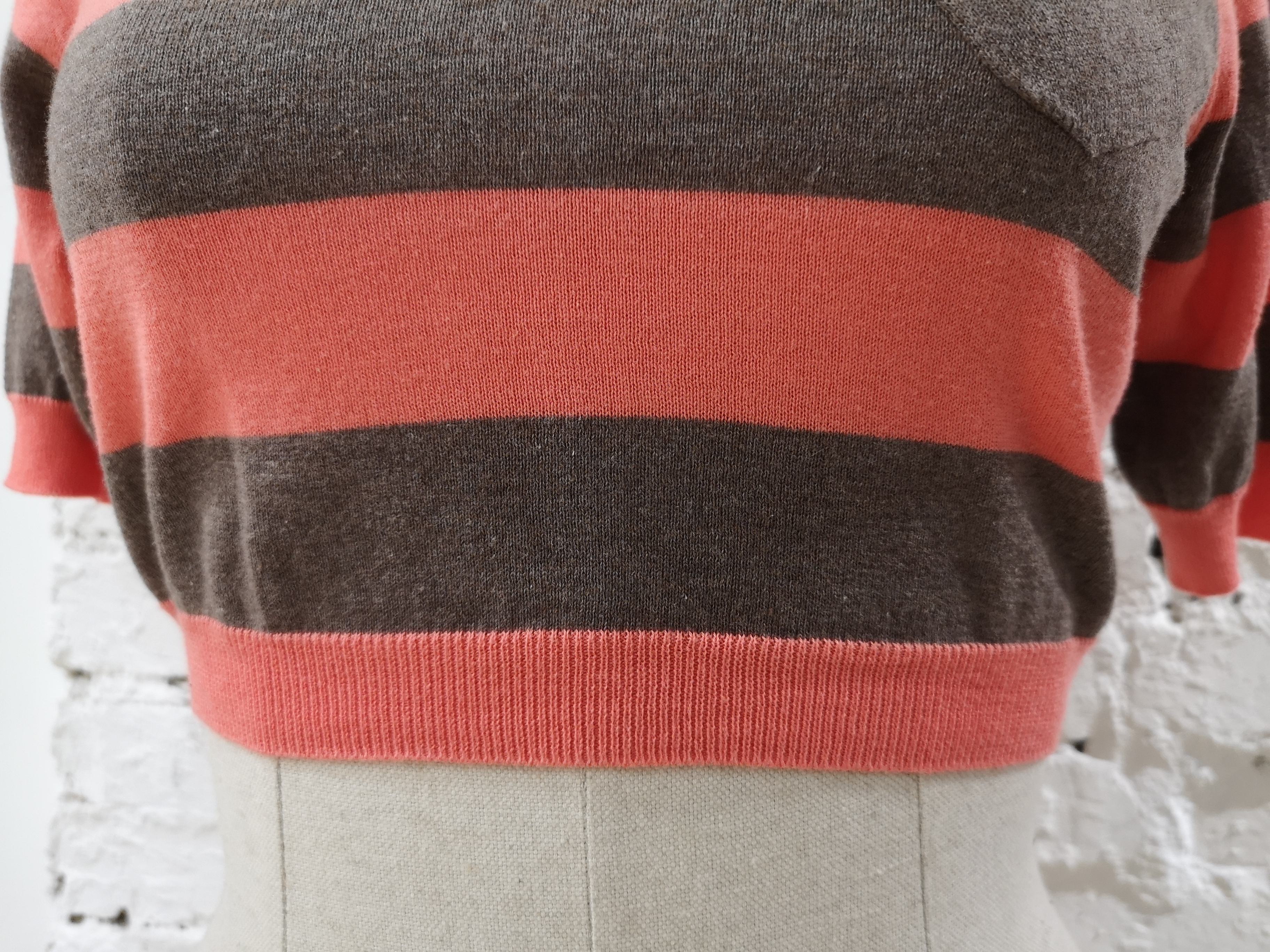 Mauro Grifoni pink brown sweater Mauro grifoni   Pull   AC02130DXSFCCEROSA