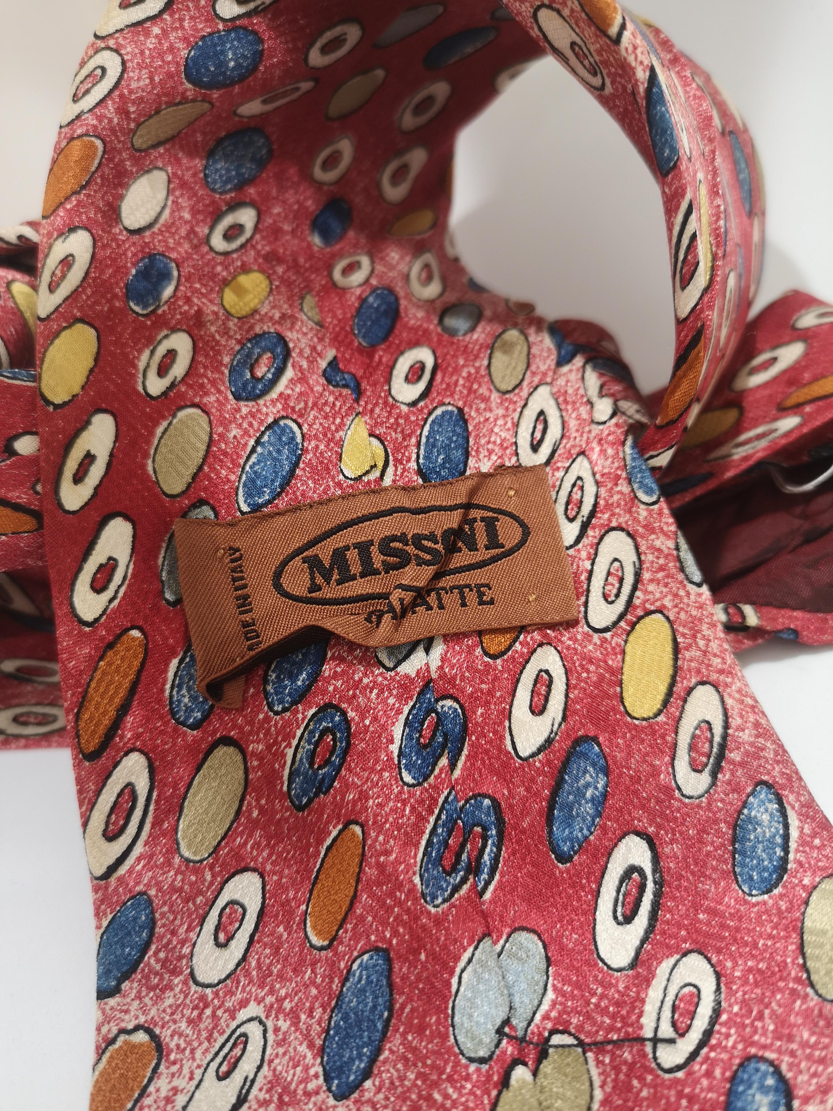 Missoni red multicoloured silk tie Missoni |  | CRAVATTA//ROSSO