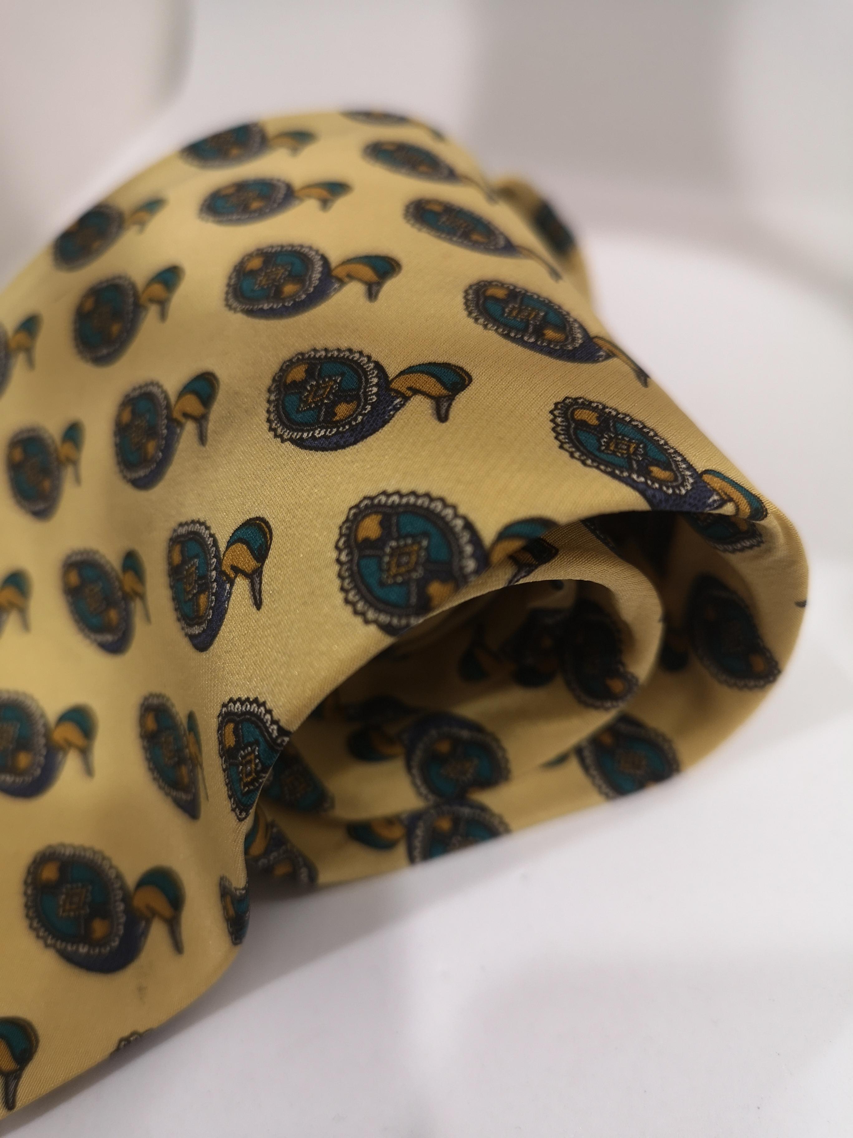 Valentino vintage light yellow ducks silk tie Valentino | Cravatta | TIE//GIALLO PAPERE