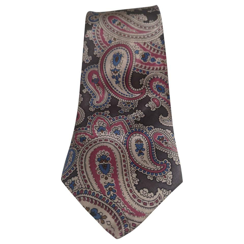 Yves Saint Laurent grey multicoloured silk tie yves saint laurent |  | TIE//MMULTI1