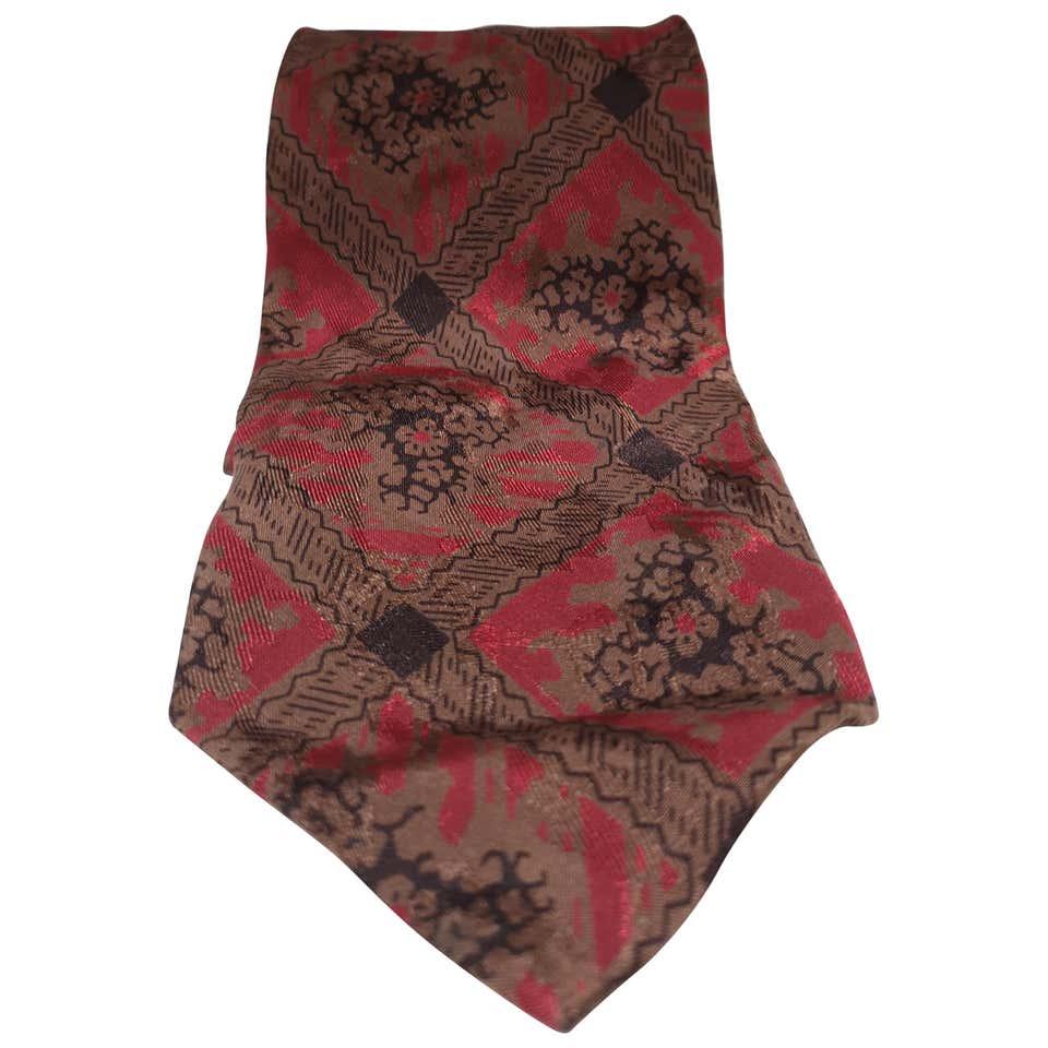 Yves Saint Laurent vintage multicoloured silk tie yves saint laurent   Cravatta   TIE//RED12