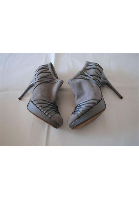 Christian Dior Grey Velvet Leather ankle boot Christian Dior | Shoes | CD01680GRIGIO