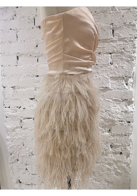 Elisabetta Franchi peach feathers dress Elisabetta Franchi | Dresses | ABITO PIUMEPESCA