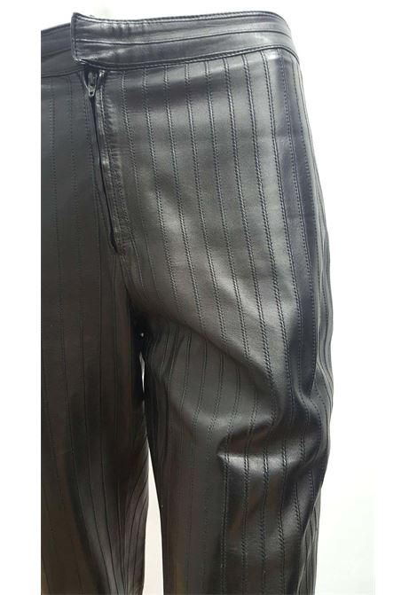 1990s Gucci Iconic Must Have black leather trousers Gucci | Pantalone | EB03A0300EXNERO PELLE